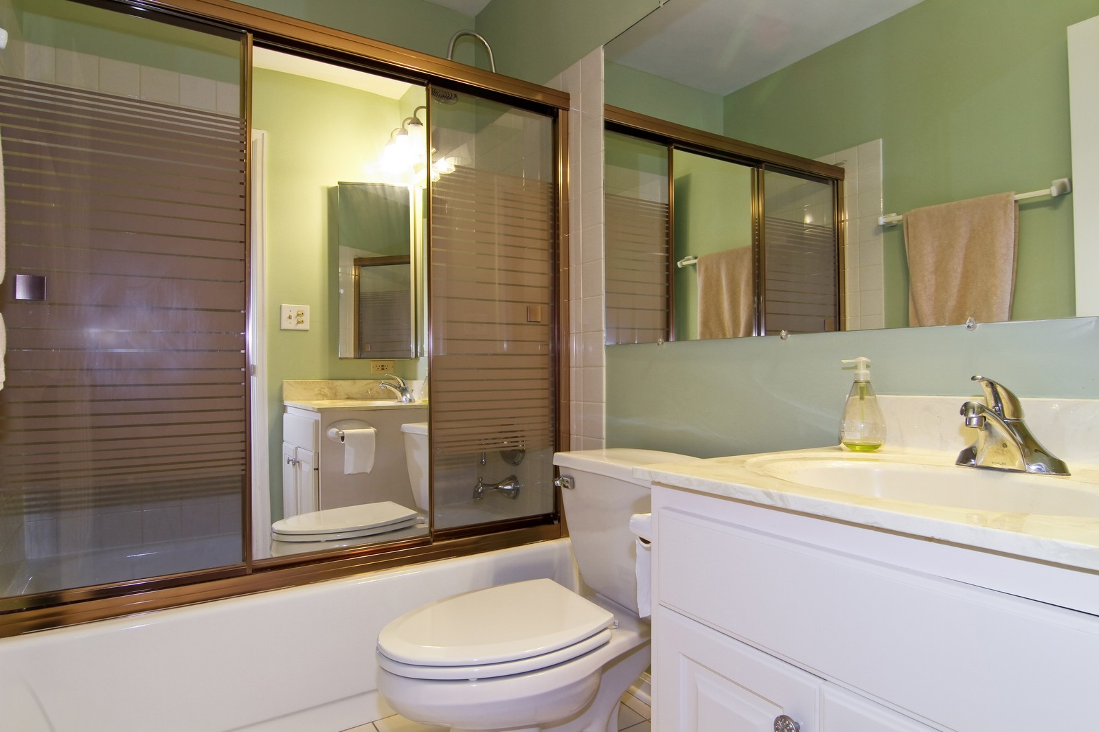 Real Estate Photography - 23 Glencoe Ct, Unit 202-B, Naperville, IL, 60565 - 2nd Bathroom