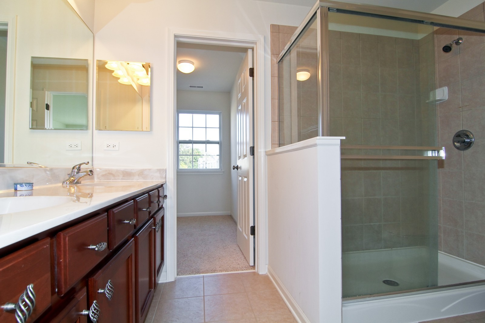 Real Estate Photography - 34W573 W Roosevelt Ave, Unit C, Saint Charles, IL, 60174 - Master Bathroom