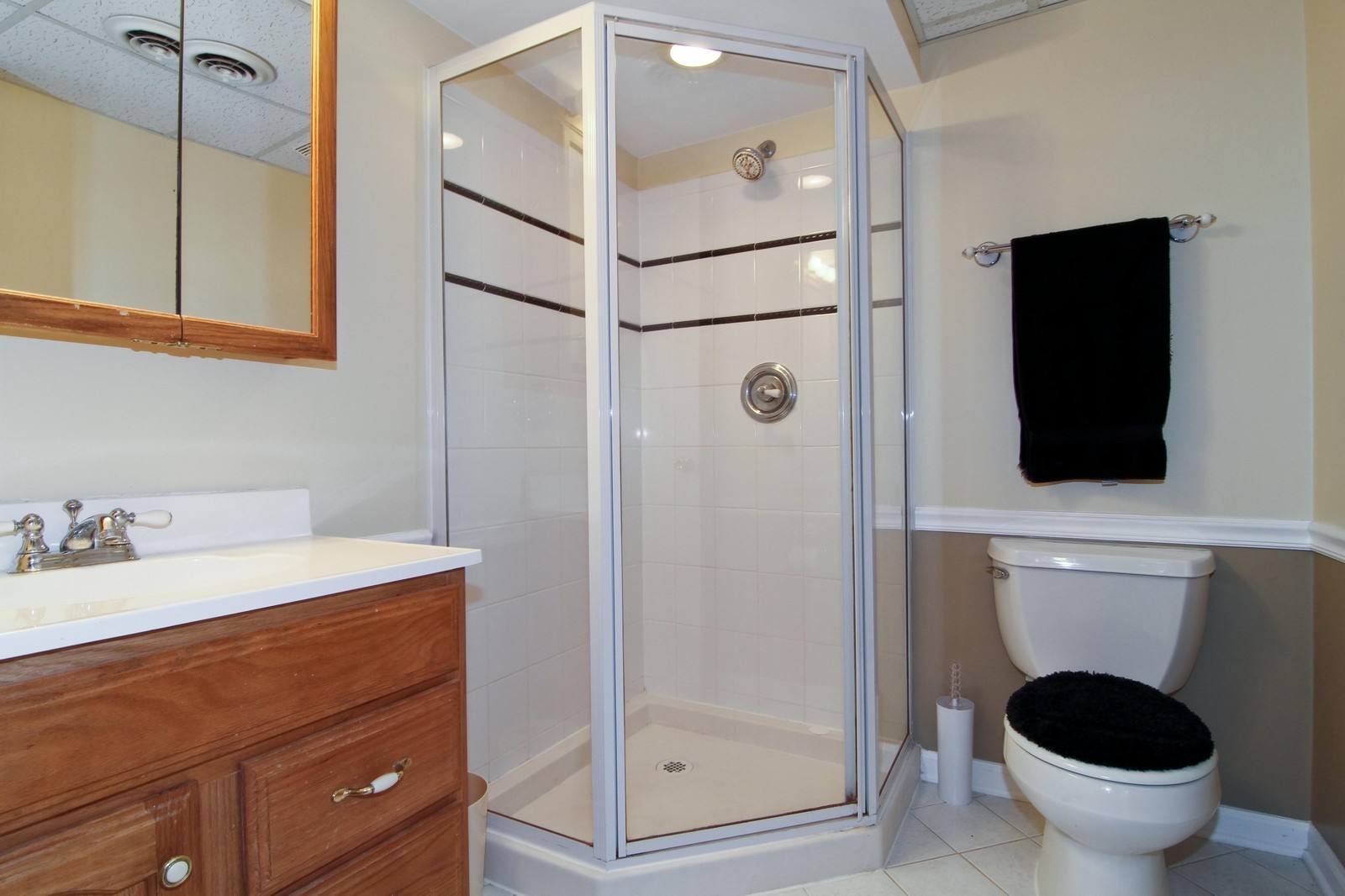 Real Estate Photography - 4930 Bryan Place, Downers Grove, IL, 60515 - Basement Bathroom
