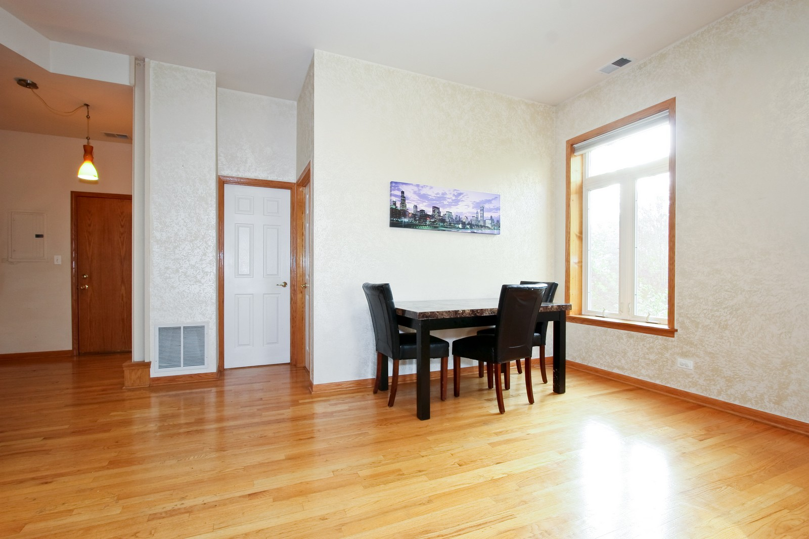Real Estate Photography - 6415 S Minerva Ave, Unit 2NW, Chicago, IL, 60637 - Dining Room