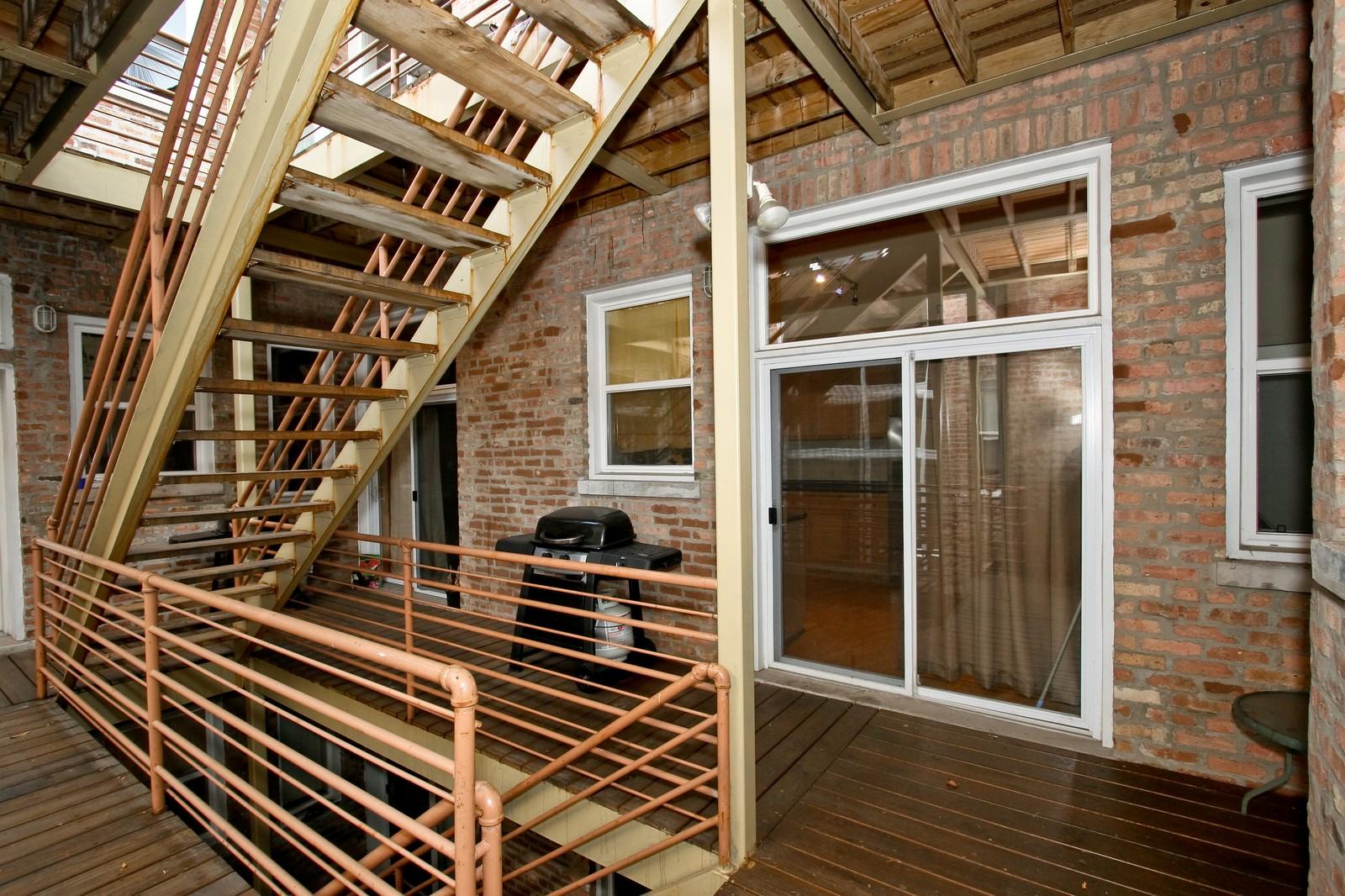 Real Estate Photography - 6415 S Minerva Ave, Unit 2NW, Chicago, IL, 60637 - Porch