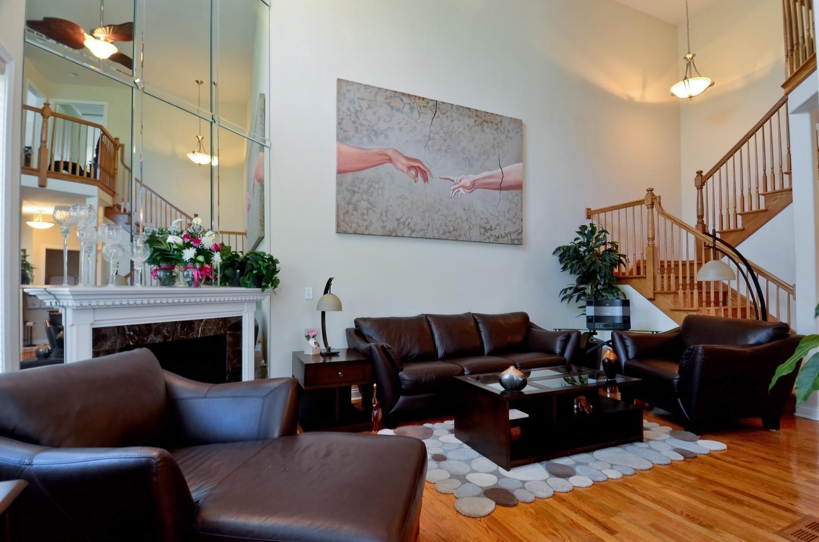 Real Estate Photography - 836 W Jameson Court, Carol Stream, IL, 60188 - Living Room