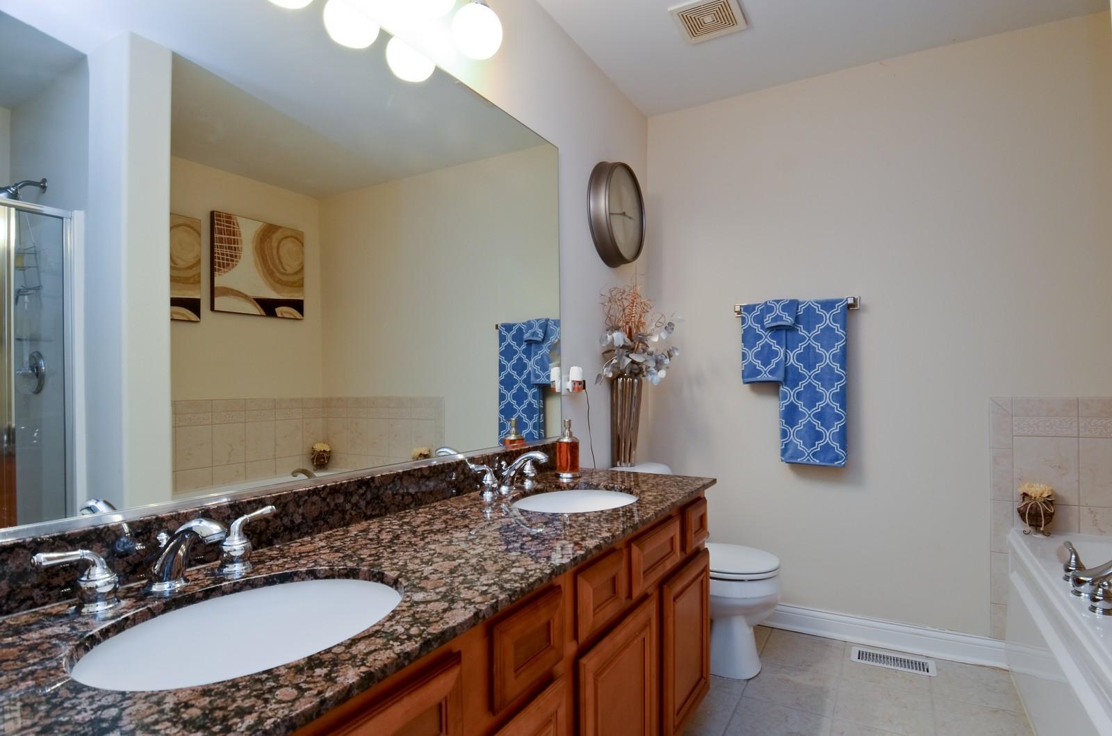 Real Estate Photography - 836 W Jameson Court, Carol Stream, IL, 60188 - Master Bathroom