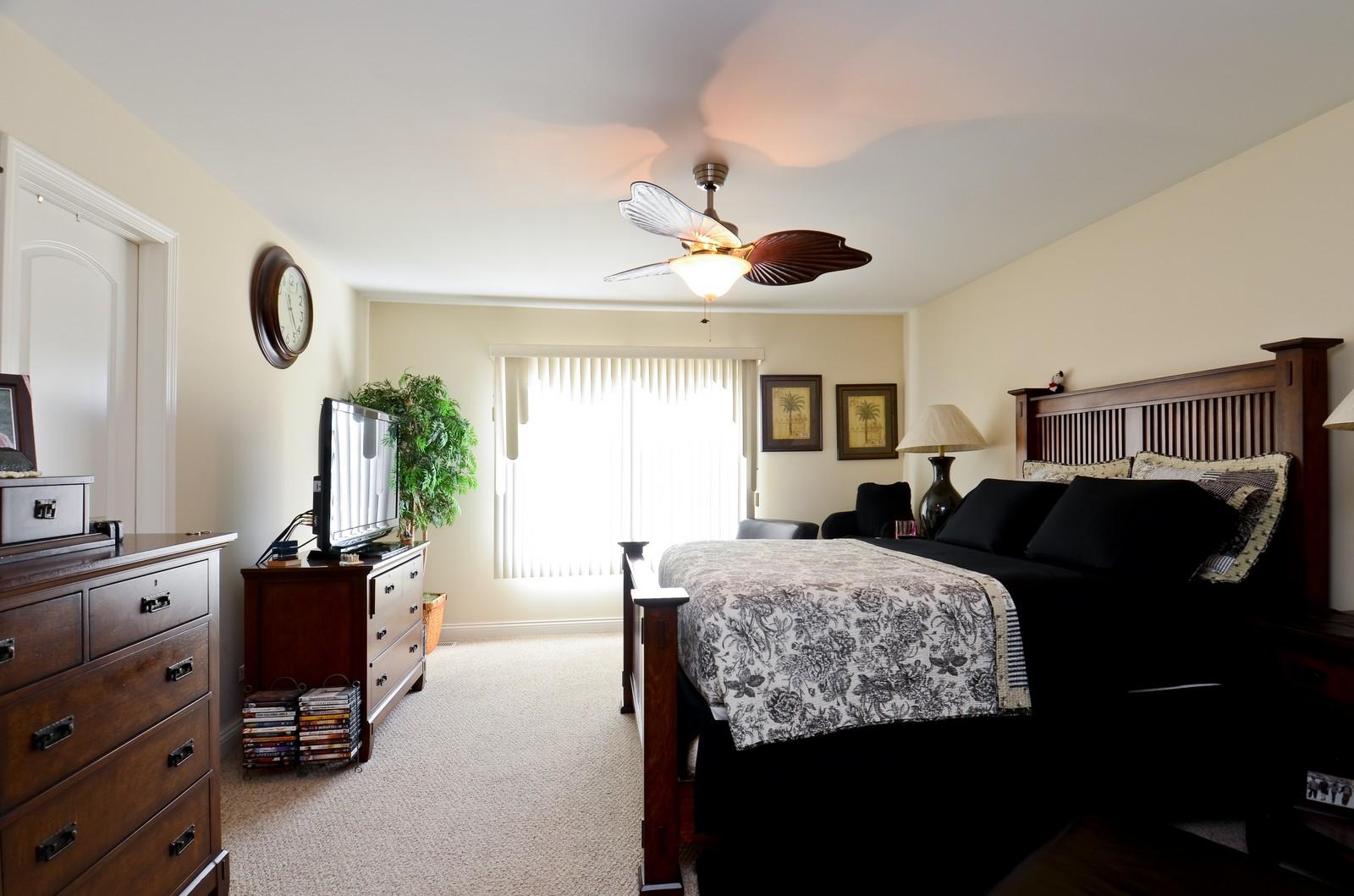 Real Estate Photography - 836 W Jameson Court, Carol Stream, IL, 60188 - Master Bedroom
