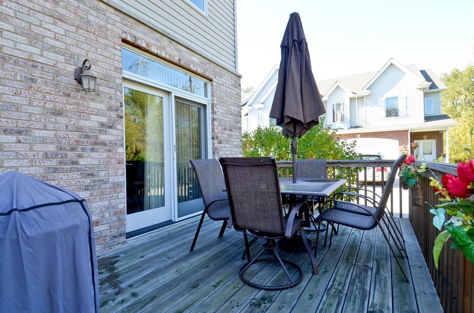 Real Estate Photography - 836 W Jameson Court, Carol Stream, IL, 60188 - Deck