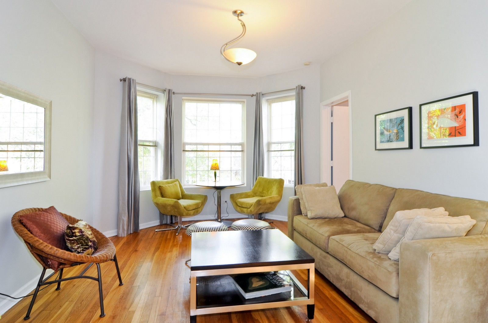 Real Estate Photography - 1851 N Whipple St, Unit 3, Chicago, IL, 60647 - Living Room