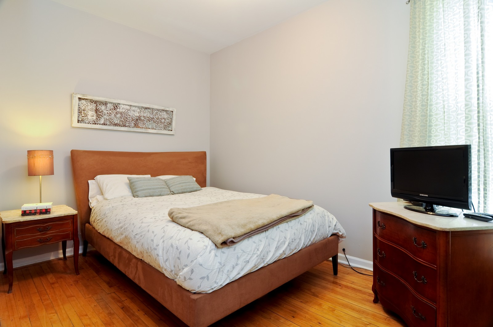 Real Estate Photography - 1851 N Whipple St, Unit 3, Chicago, IL, 60647 - Bedroom