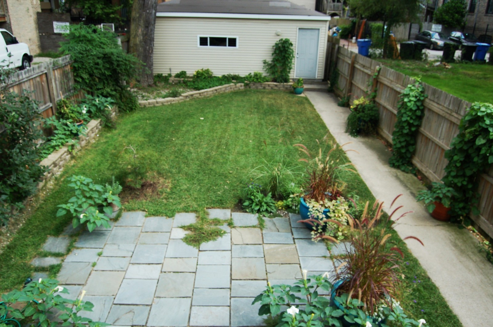 Real Estate Photography - 1851 N Whipple St, Unit 3, Chicago, IL, 60647 - Back Yard