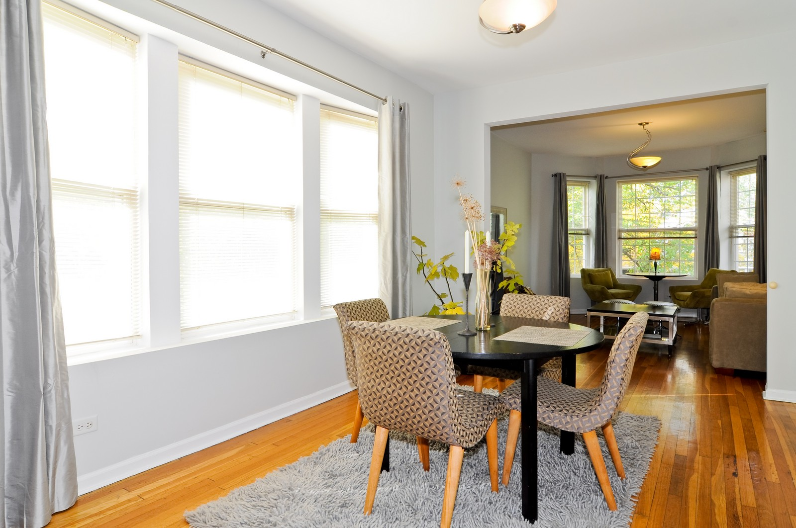 Real Estate Photography - 1851 N Whipple St, Unit 3, Chicago, IL, 60647 - Living Room / Dining Room