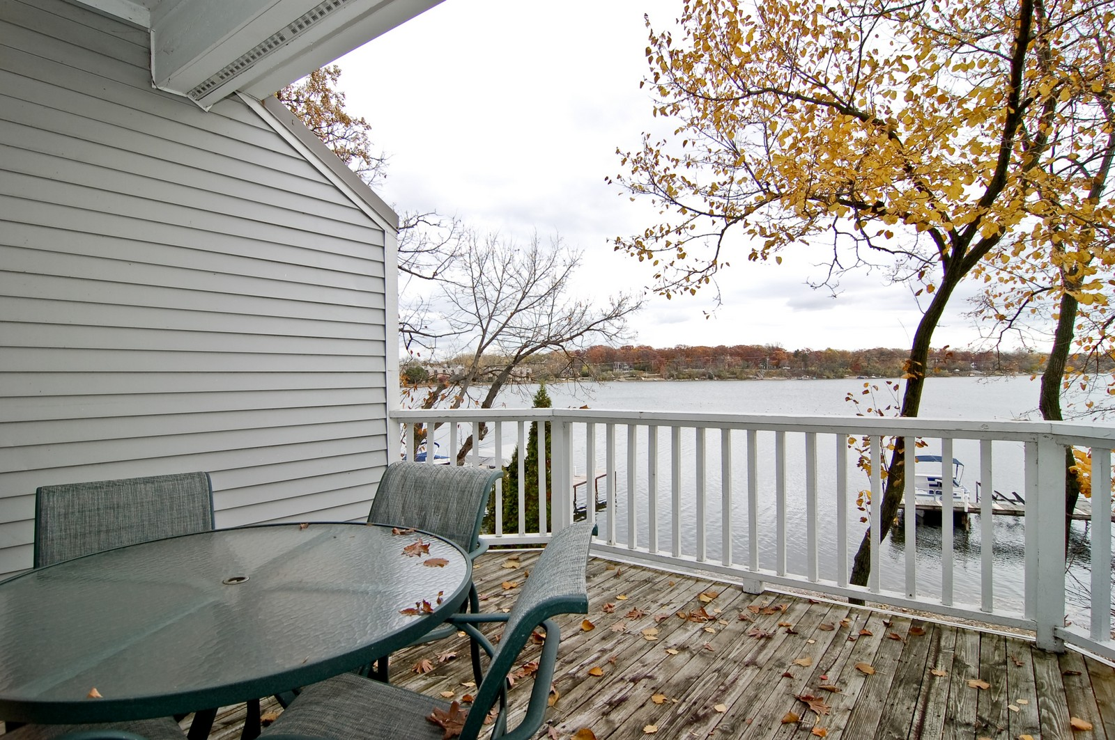 Real Estate Photography - 255 Sandy Point Ln, Lake Zurich, IL, 60047 - Deck