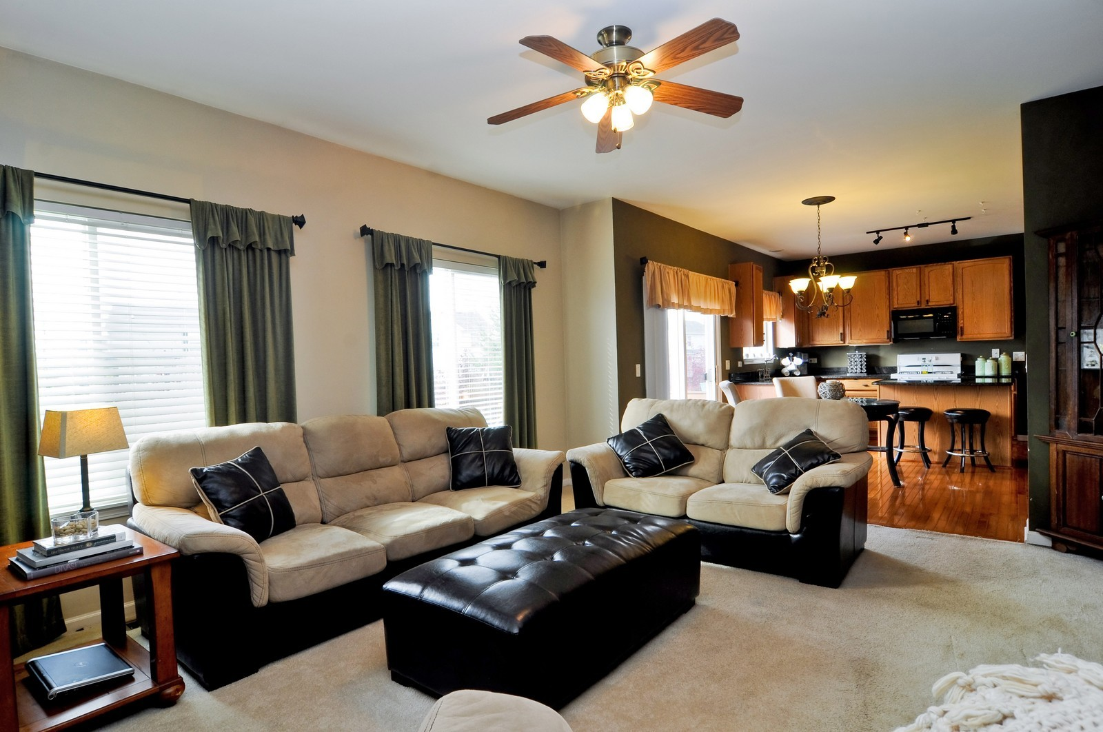 Real Estate Photography - 3461 Chadwick Lane, Lake in the Hills, IL, 60156 - Family Room / Kitchen