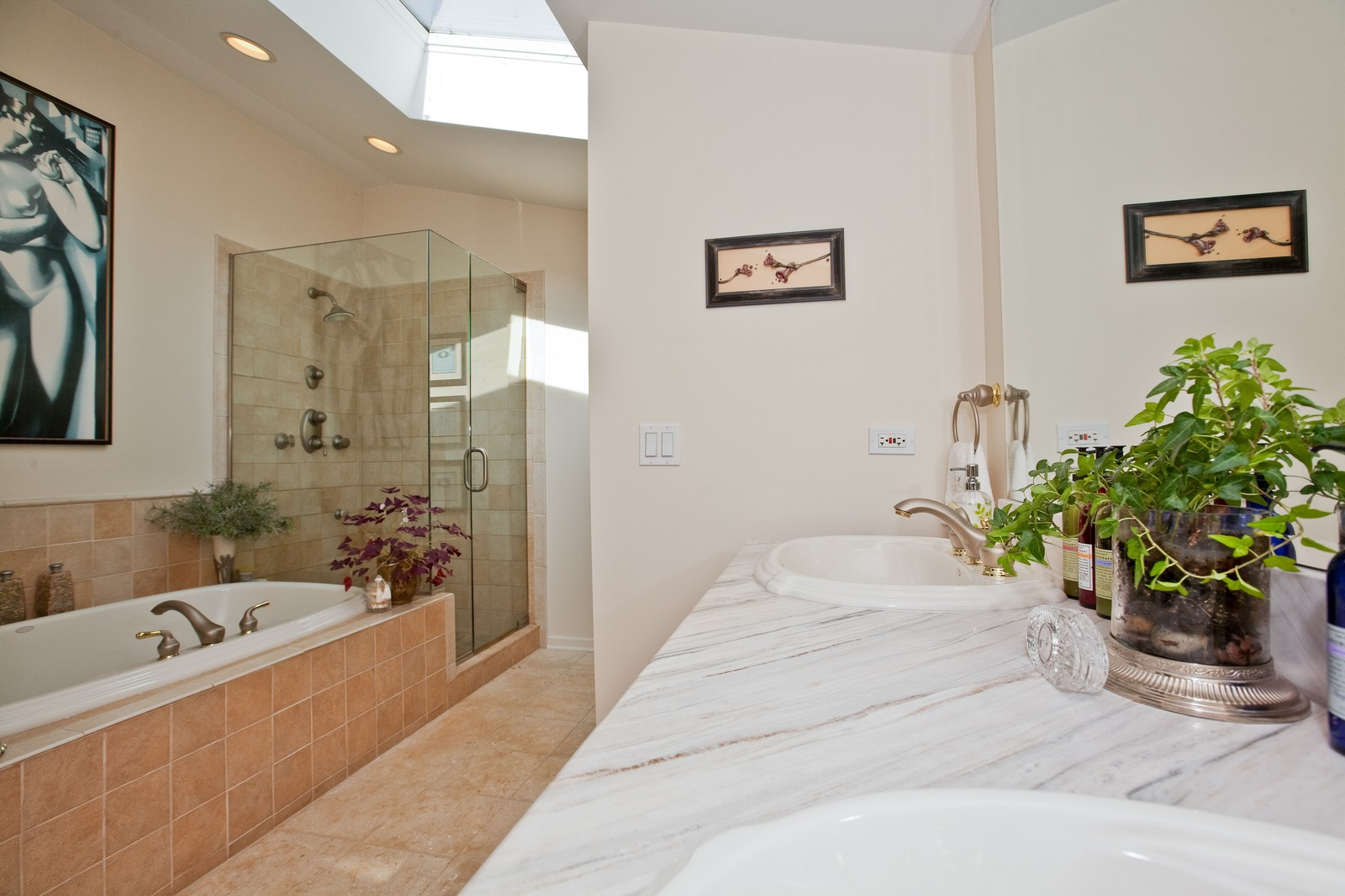 Real Estate Photography - 5743 Hillcrest Rd, Downers Grove, IL, 60516 - Master Bathroom