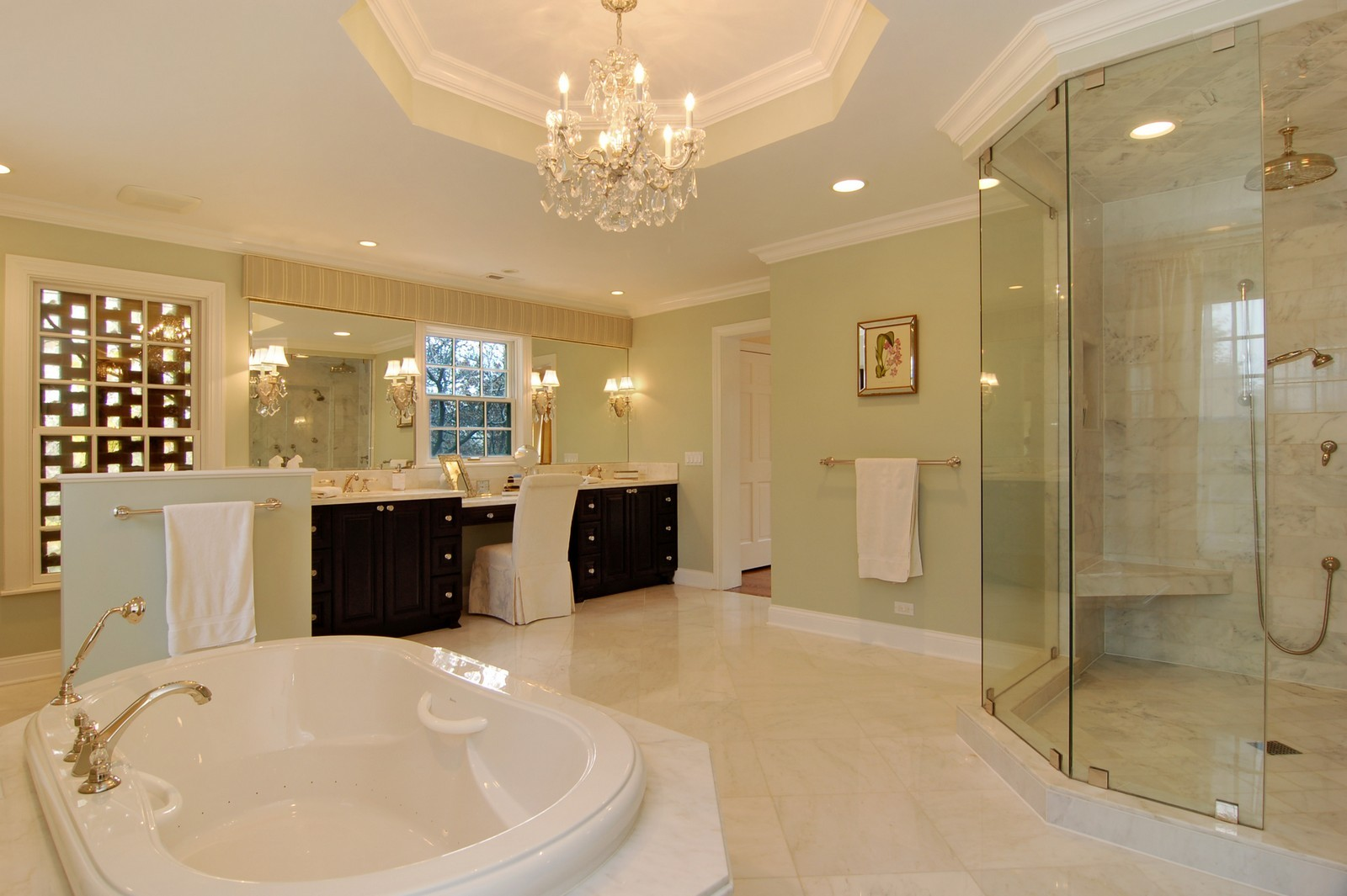 Real Estate Photography - 1655 Pheasant Trl, Inverness, IL, 60067 - Master Bathroom