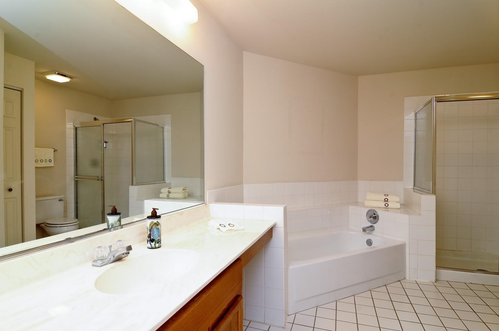 Real Estate Photography - 534A Penny Lane, Crystal Lake, IL, 60014 - Master Bathroom