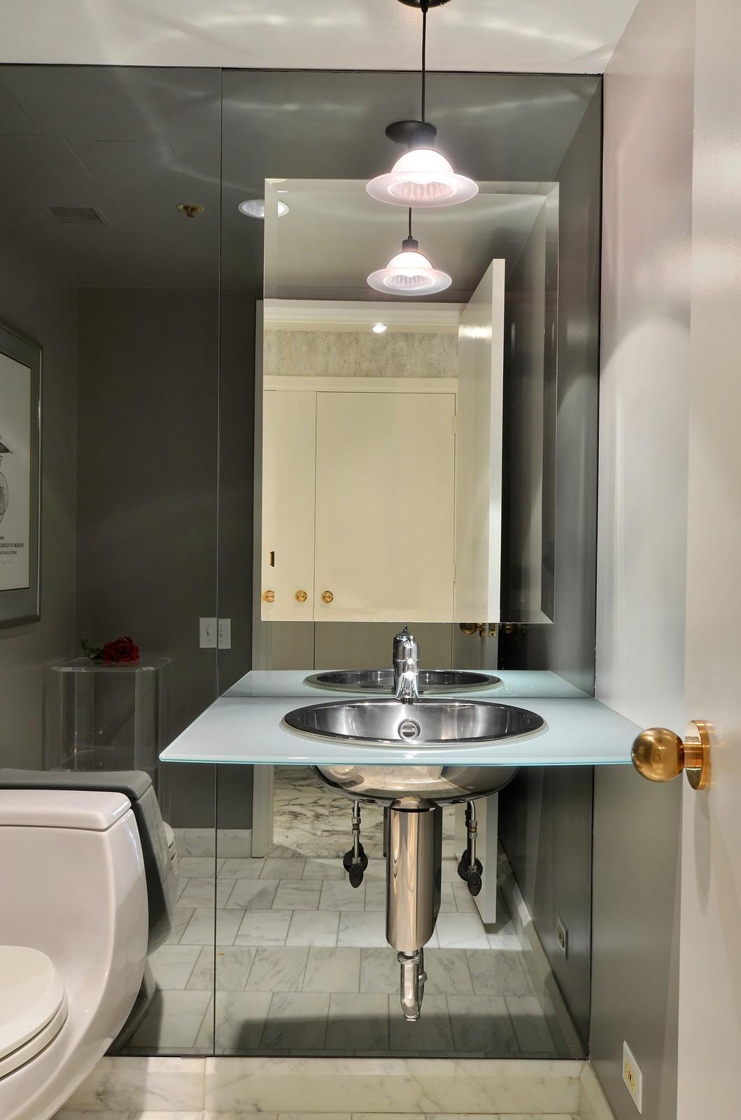 Real Estate Photography - 161 E Chicago Ave, Unit 44B, Chicago, IL, 60611 - Half Bath