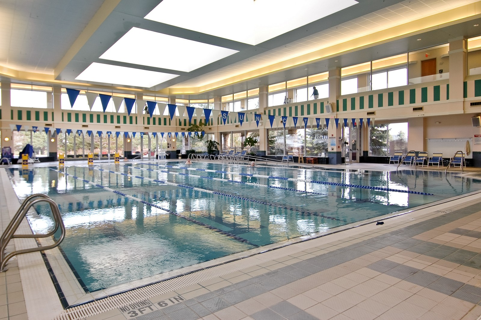 Real Estate Photography - 12344 Arlington Dr, Huntley, IL, 60142 - Indoor Pool