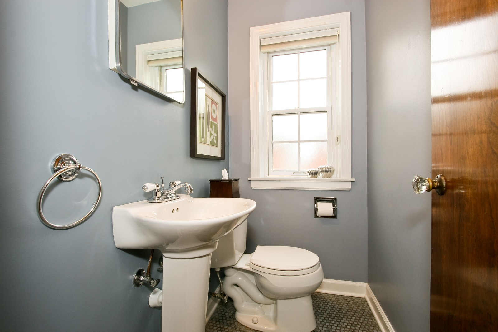 Real Estate Photography - 2235 Hutchison Rd, Flossmoor, IL, 60422 - Half Bath