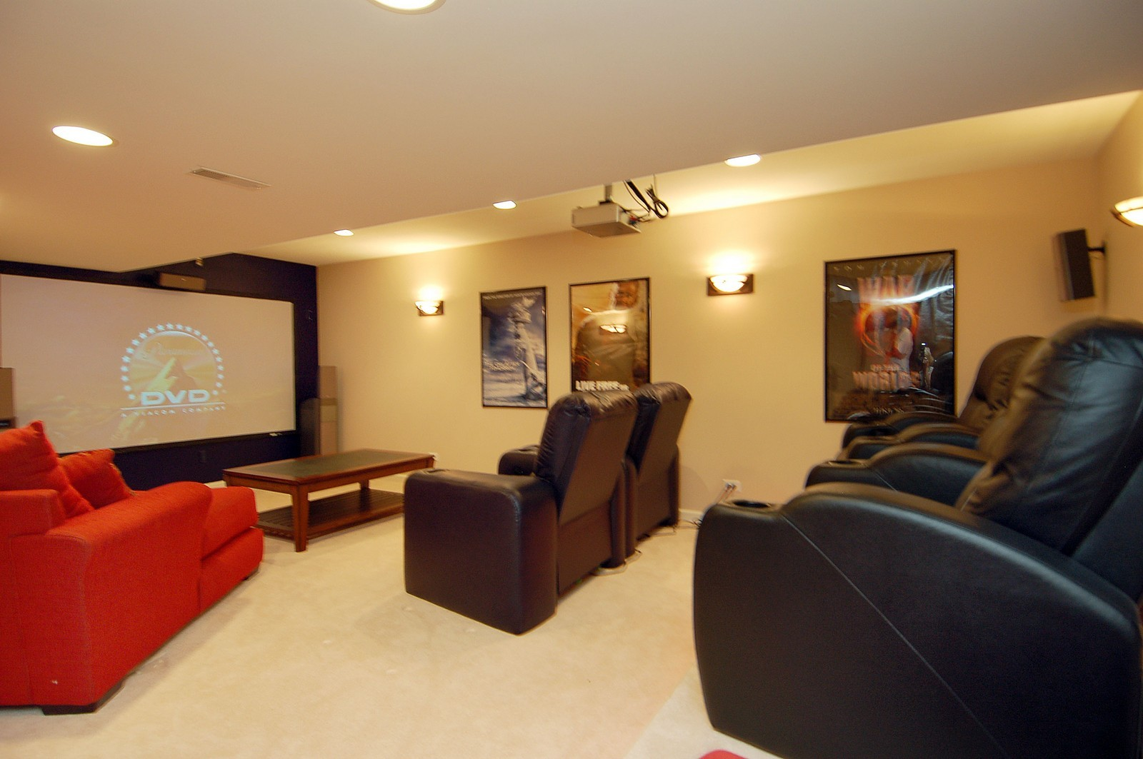 Real Estate Photography - 561 Golden Valley Ln, Algonquin, IL, 60102 - Theater
