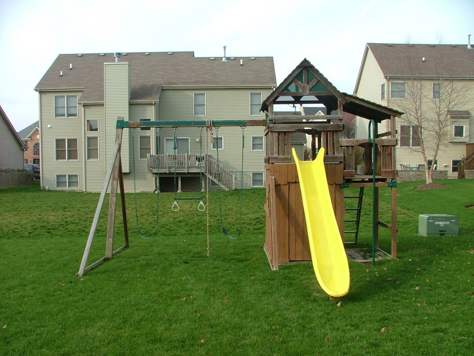 Real Estate Photography - 0S580 Preston Cir, Geneva, IL, 60134 - Backyard Play Area