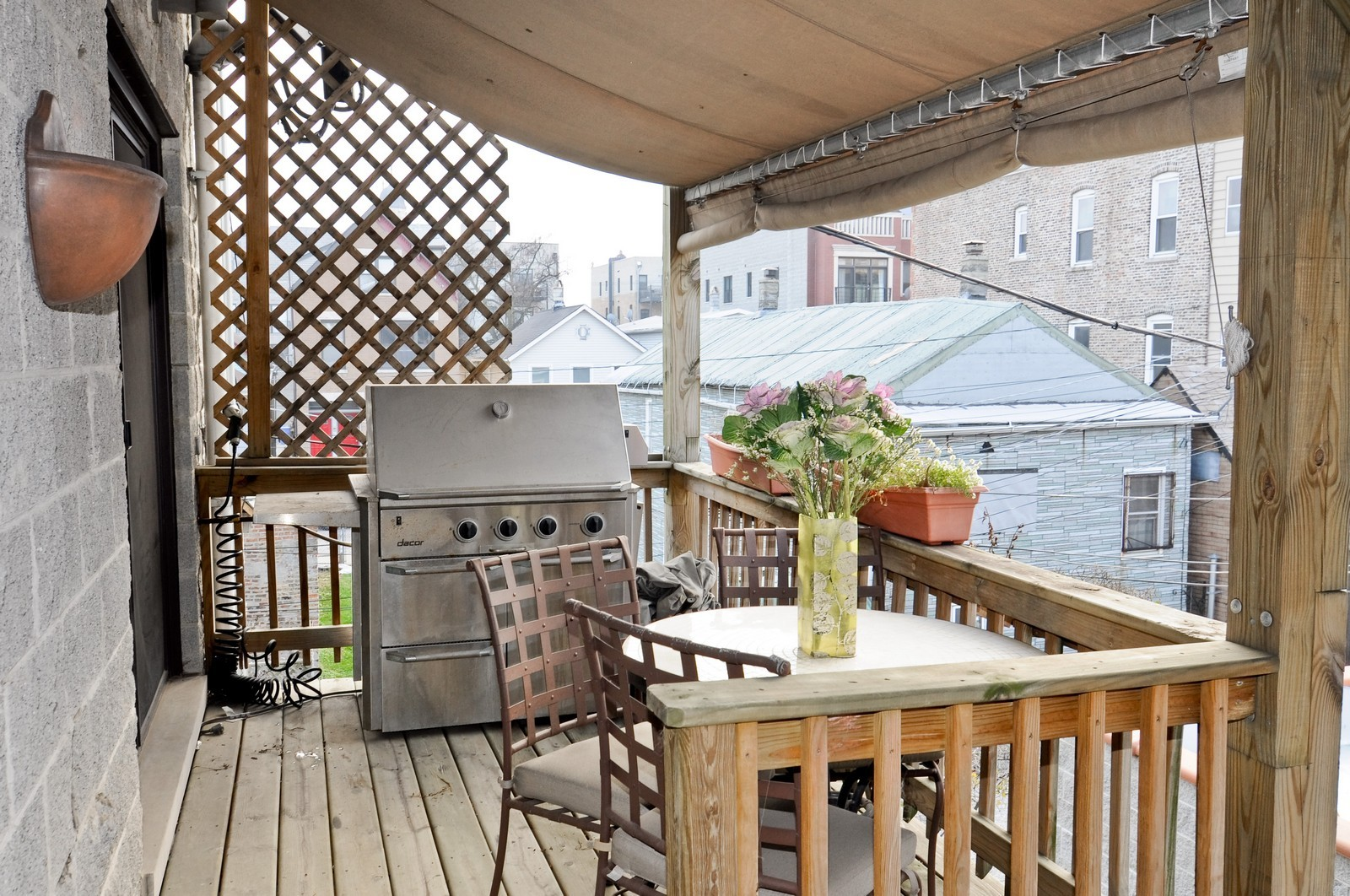Real Estate Photography - 838-840 Greenview, Chicago, IL, 60642 - Terrace 2