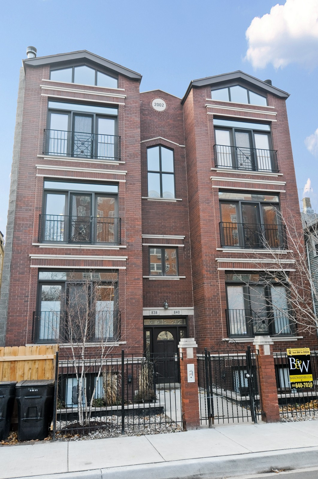 Real Estate Photography - 838-840 Greenview, Chicago, IL, 60642 - Front View
