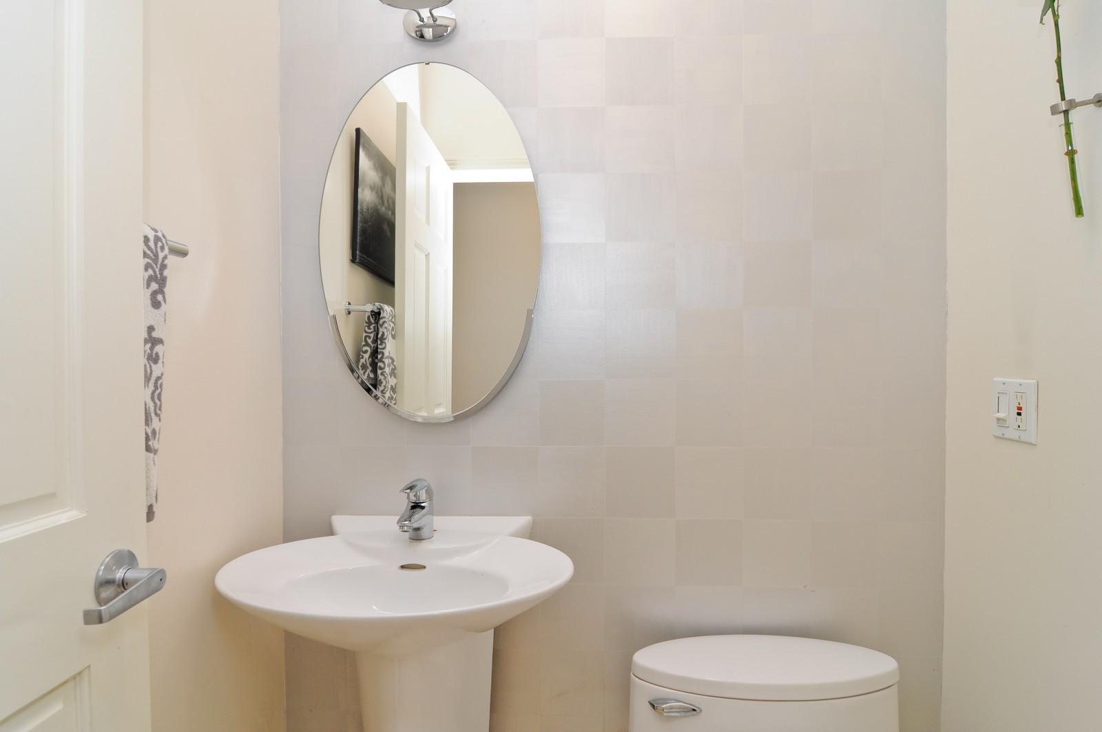 Real Estate Photography - 838-840 Greenview, Chicago, IL, 60642 - Half Bath