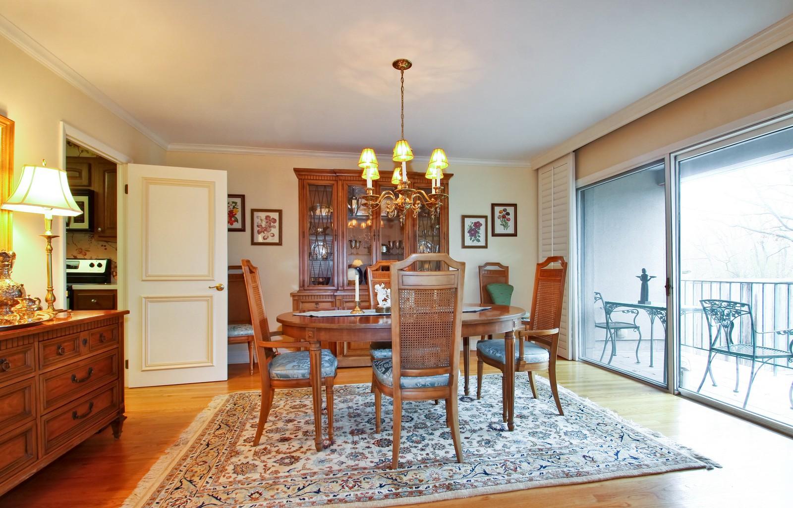 Real Estate Photography - 640 Winnetka Mews, Unit 105, Winnetka, IL, 60093 - Dining Room