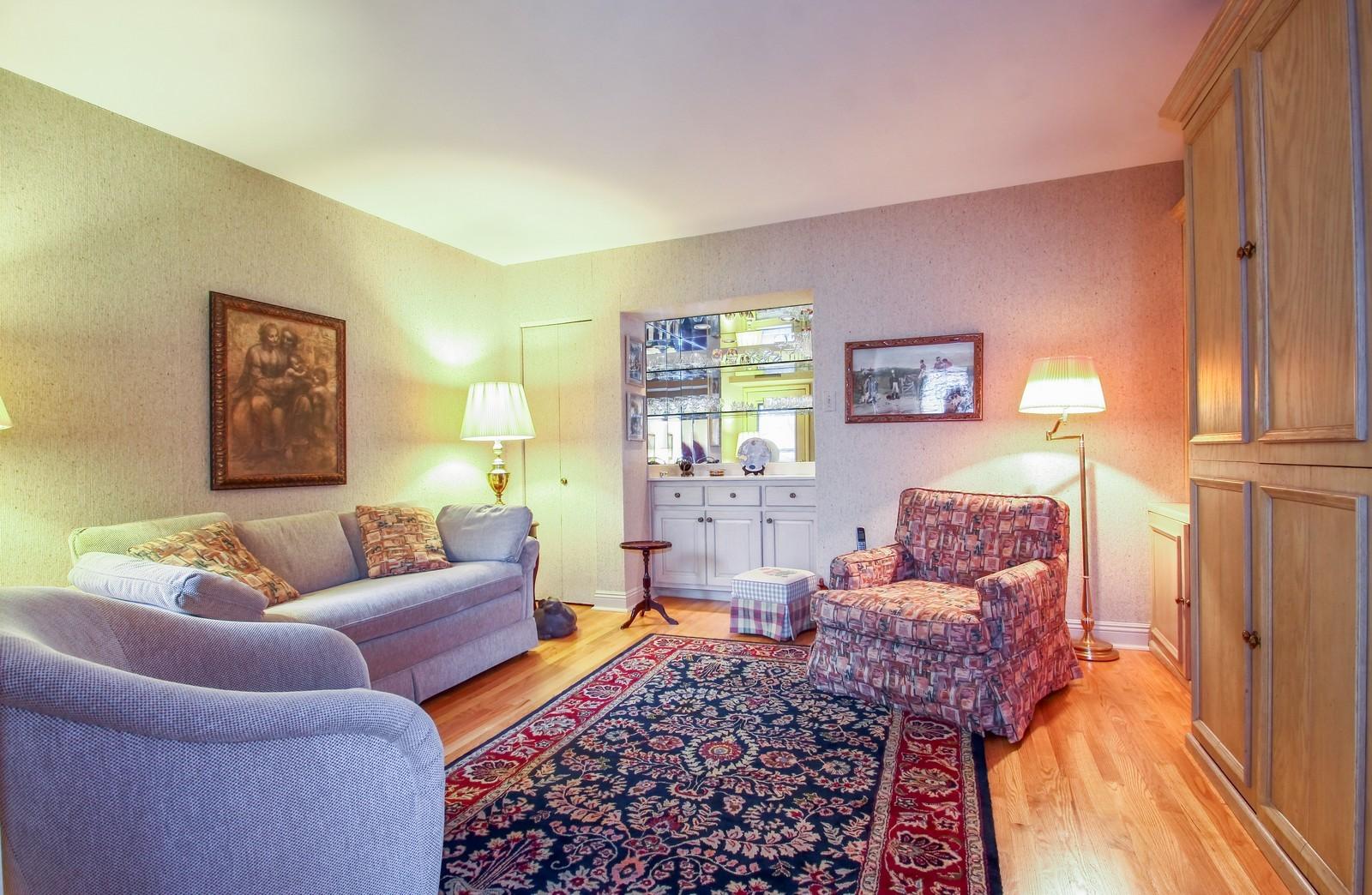 Real Estate Photography - 640 Winnetka Mews, Unit 105, Winnetka, IL, 60093 - Den