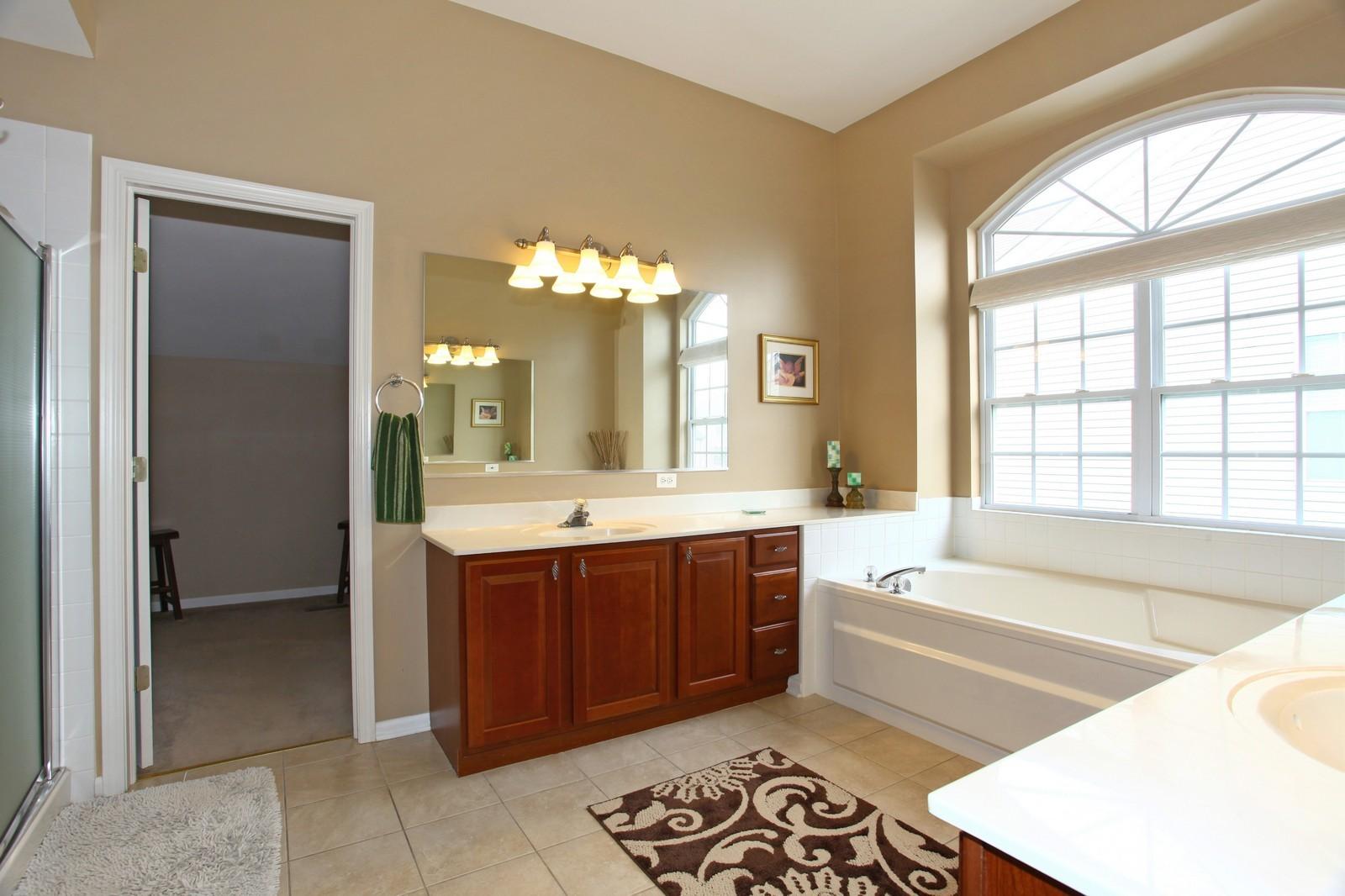 Real Estate Photography - 3298 Fieldstone Dr, Geneva, IL, 60134 - Master Bathroom