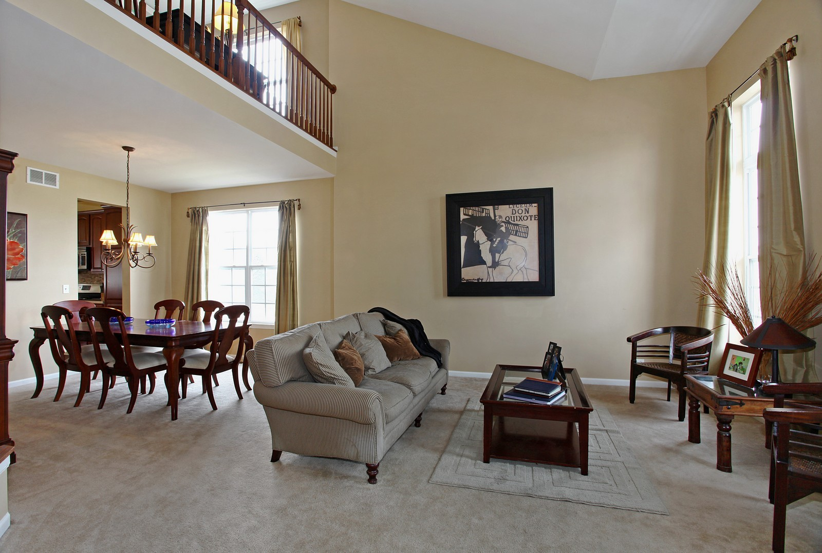 Real Estate Photography - 3298 Fieldstone Dr, Geneva, IL, 60134 - Living Room / Dining Room