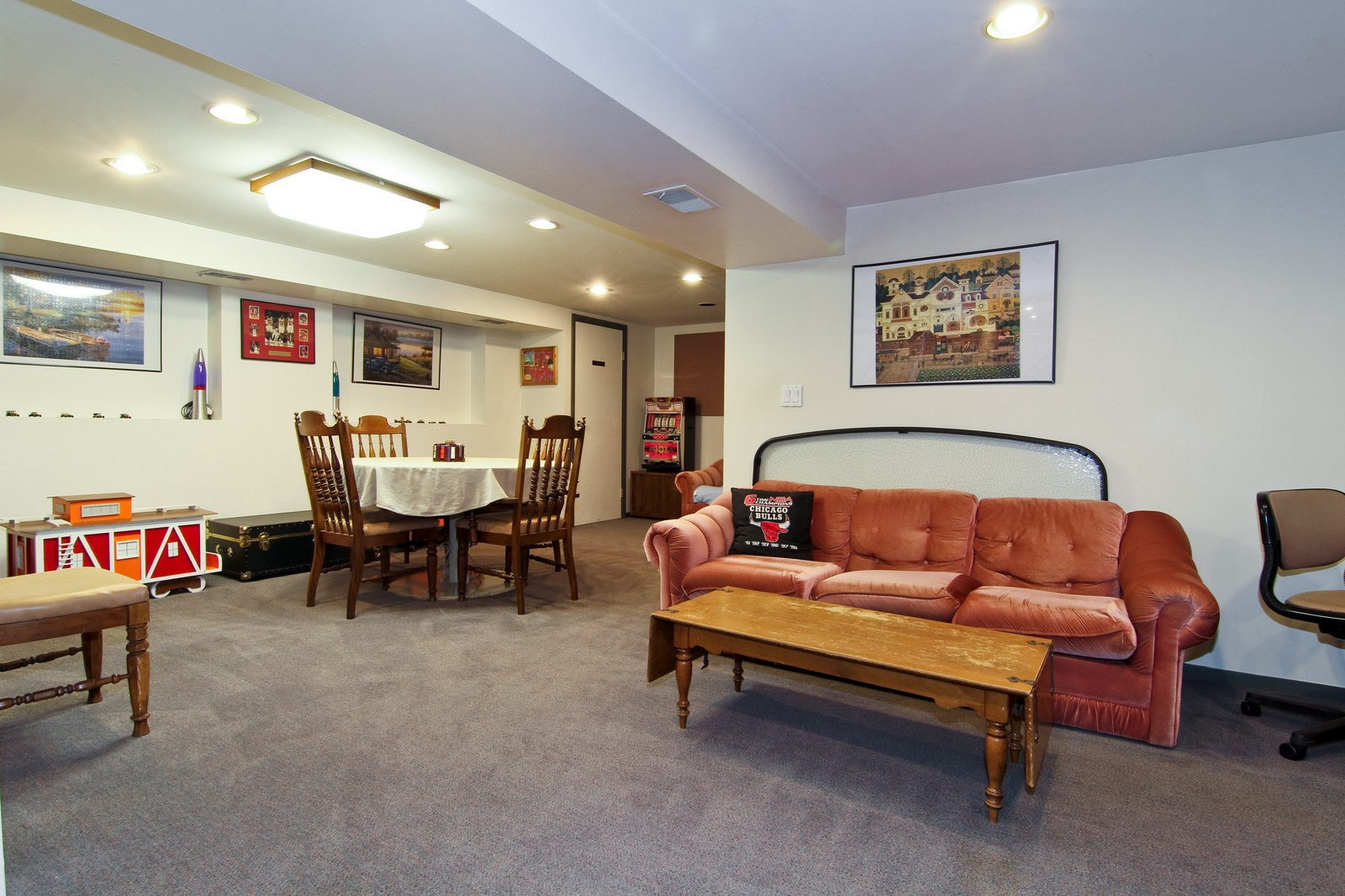 Real Estate Photography - 26W543 MacArthur, Carol Stream, IL, 60188 - Basement Rec Room