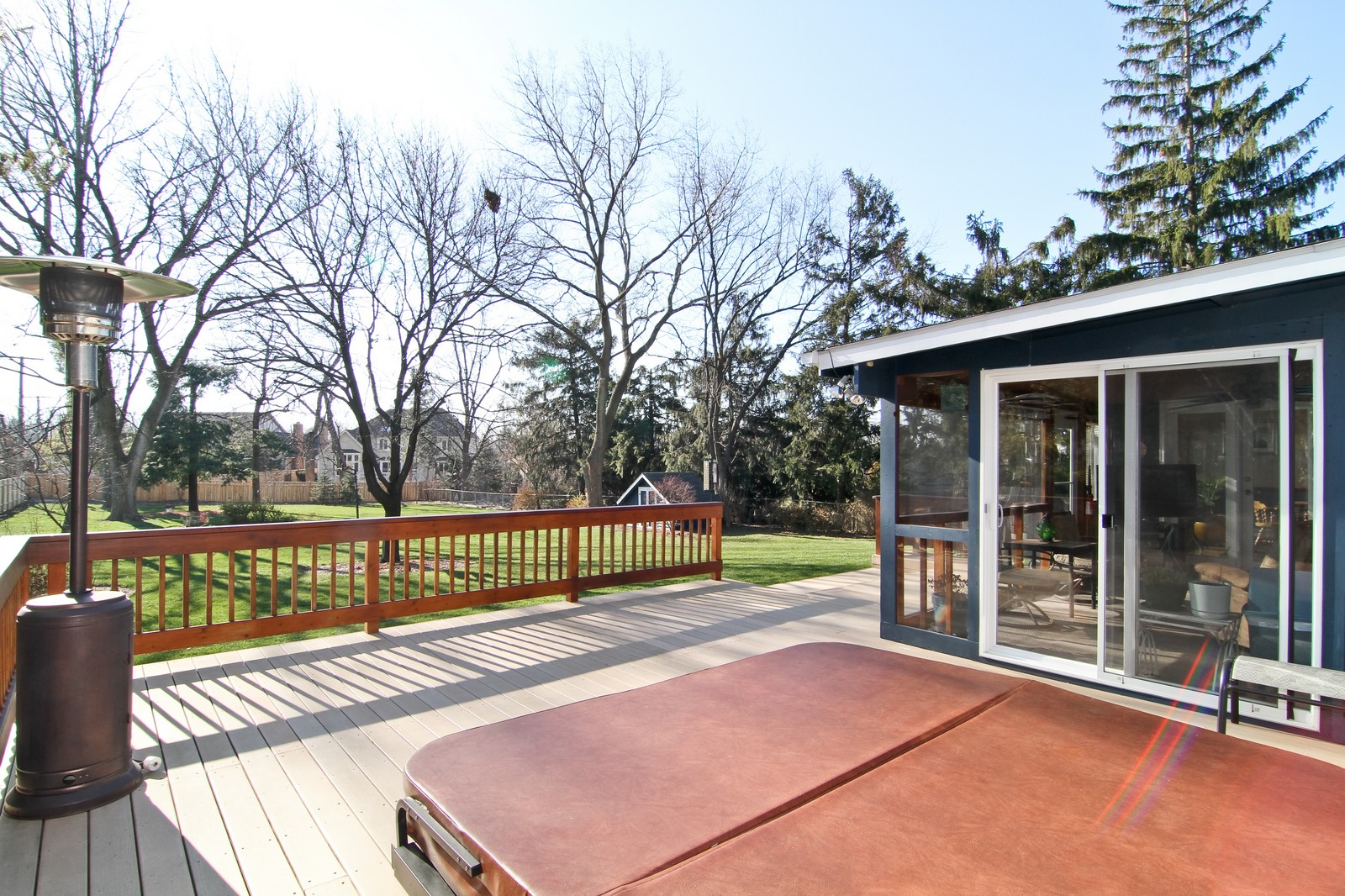 Real Estate Photography - 26W543 MacArthur, Carol Stream, IL, 60188 - Deck with Hot Tub