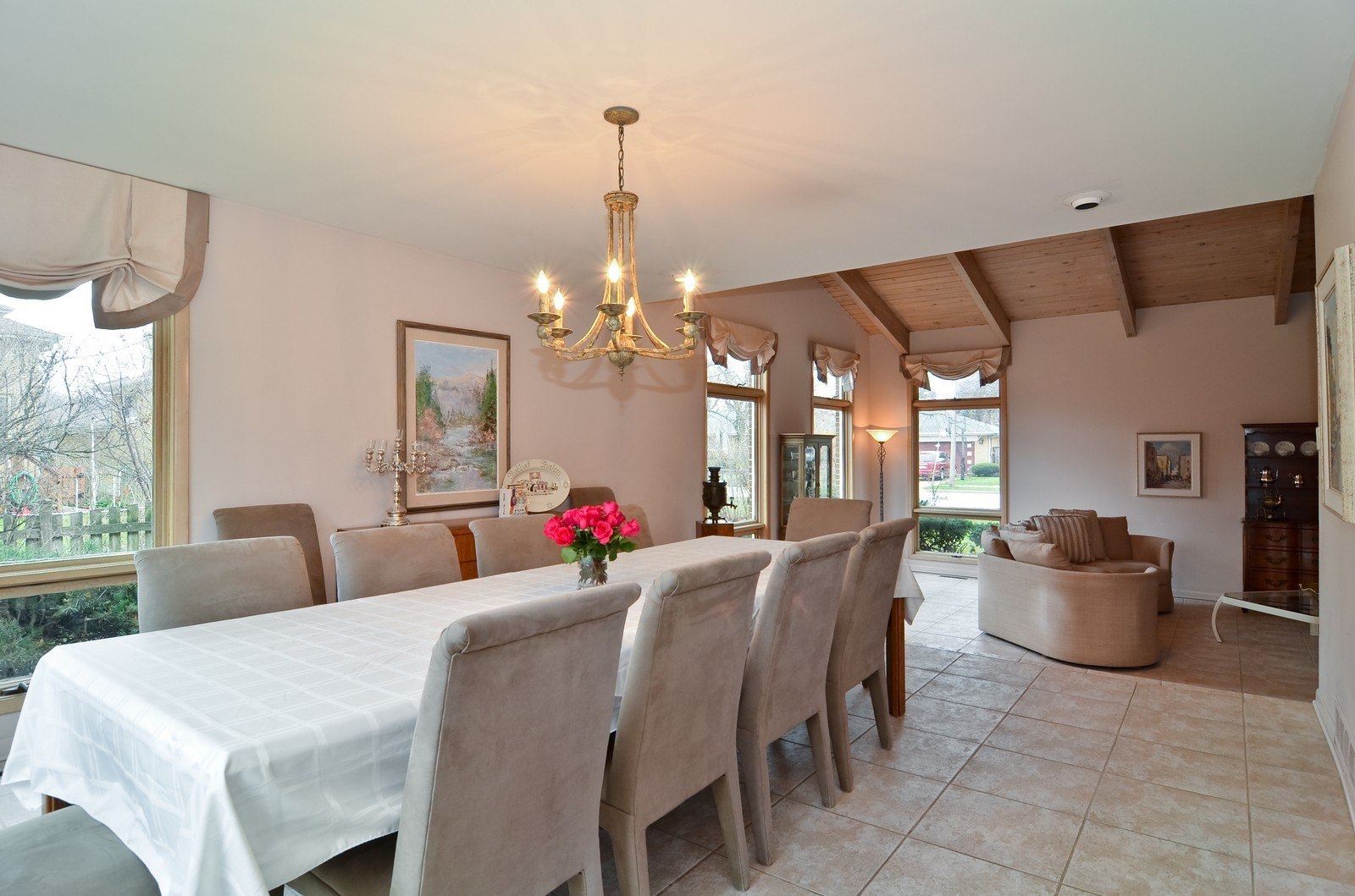 Real Estate Photography - 4220 Greenwood ST, Skokie, IL, 60076 - Living Room / Dining Room