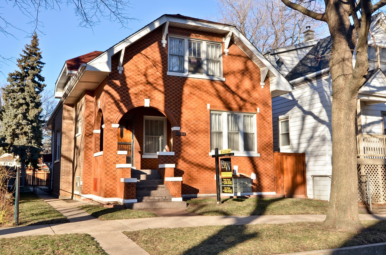 Real Estate Photography - 4808 W Gunnison, Chicago, IL, 60630 - Front View