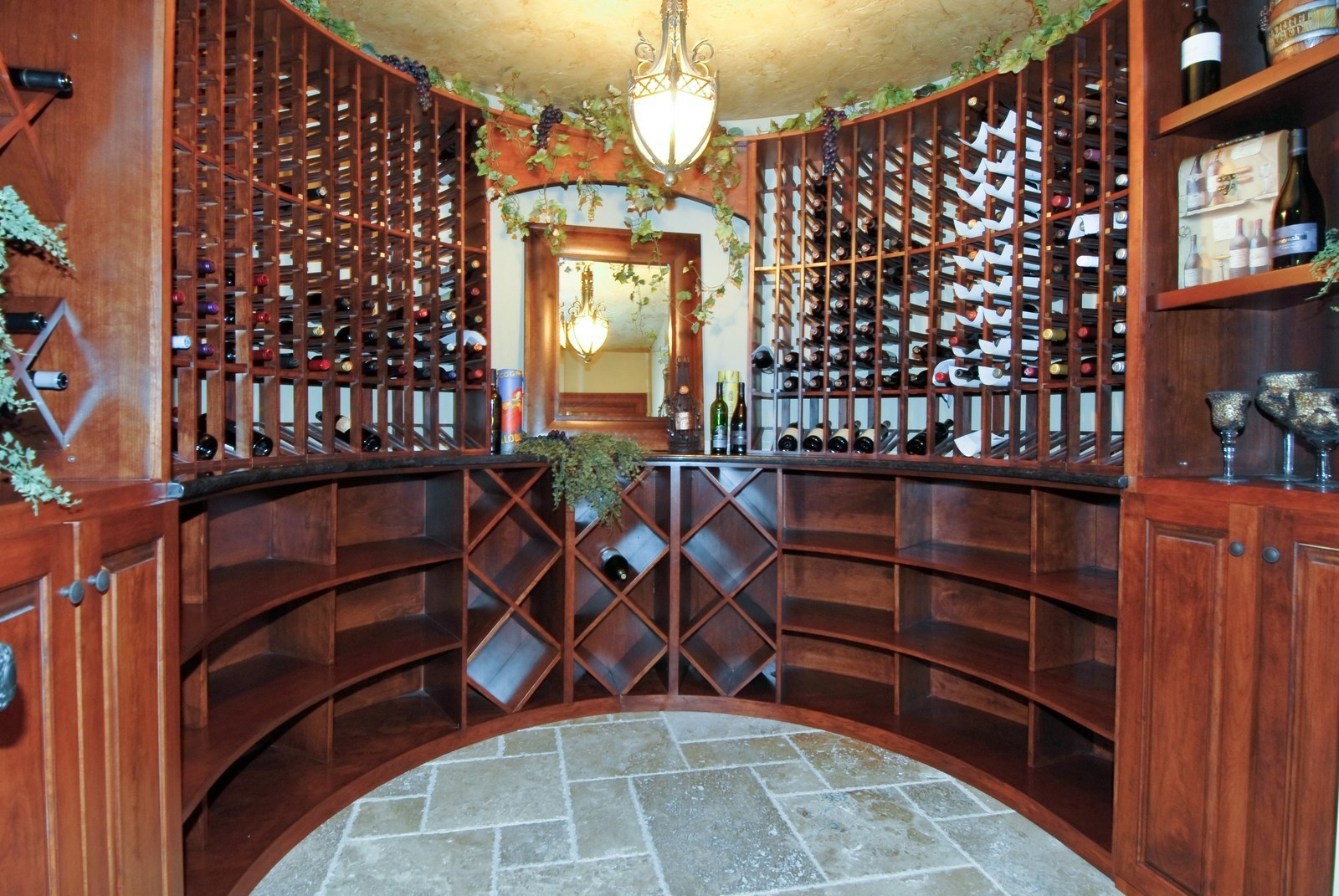 Real Estate Photography - 729 Wellner Dr, Naperville, IL, 60540 - Wine Cellar