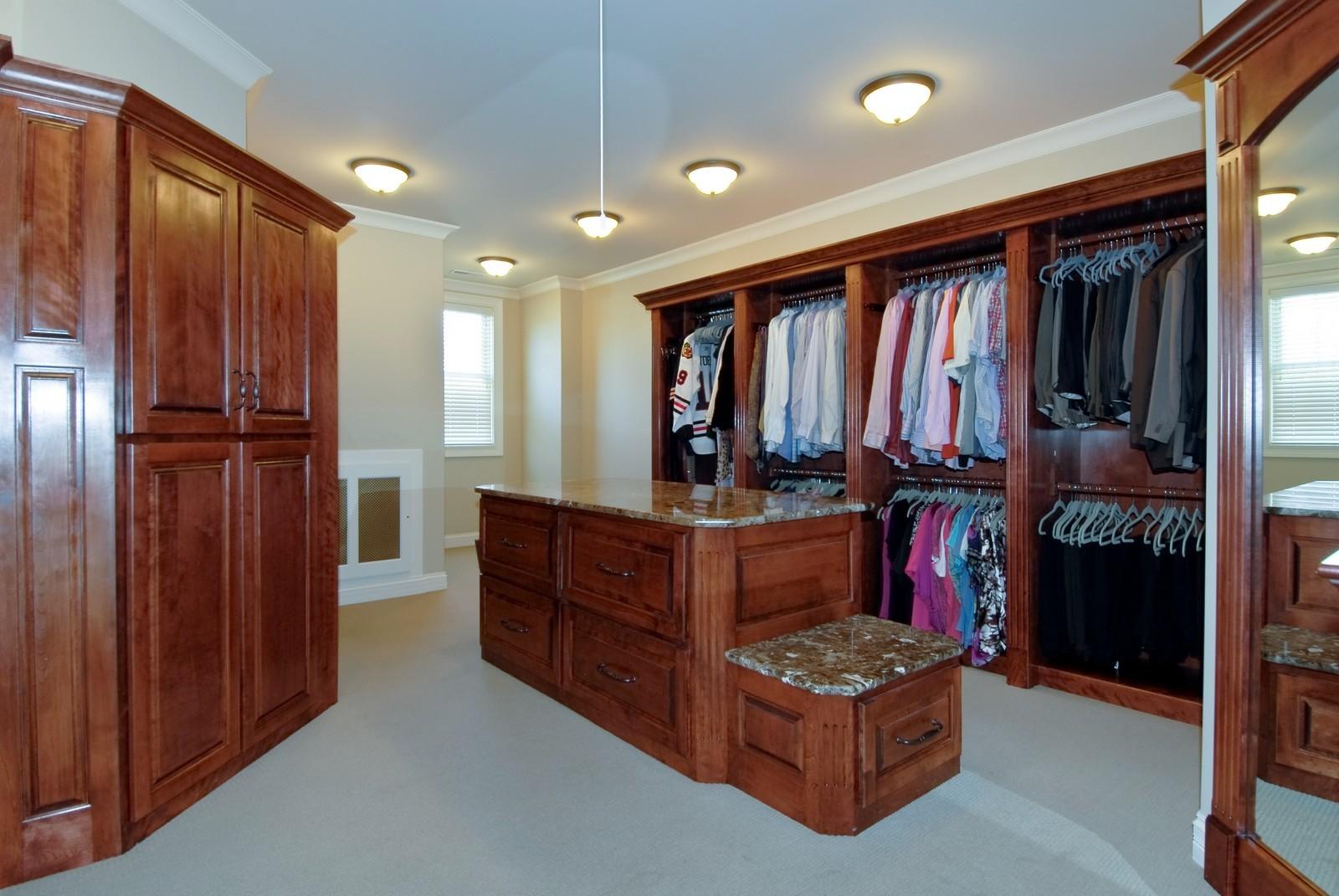 Real Estate Photography - 729 Wellner Dr, Naperville, IL, 60540 - Master Bedroom Closet