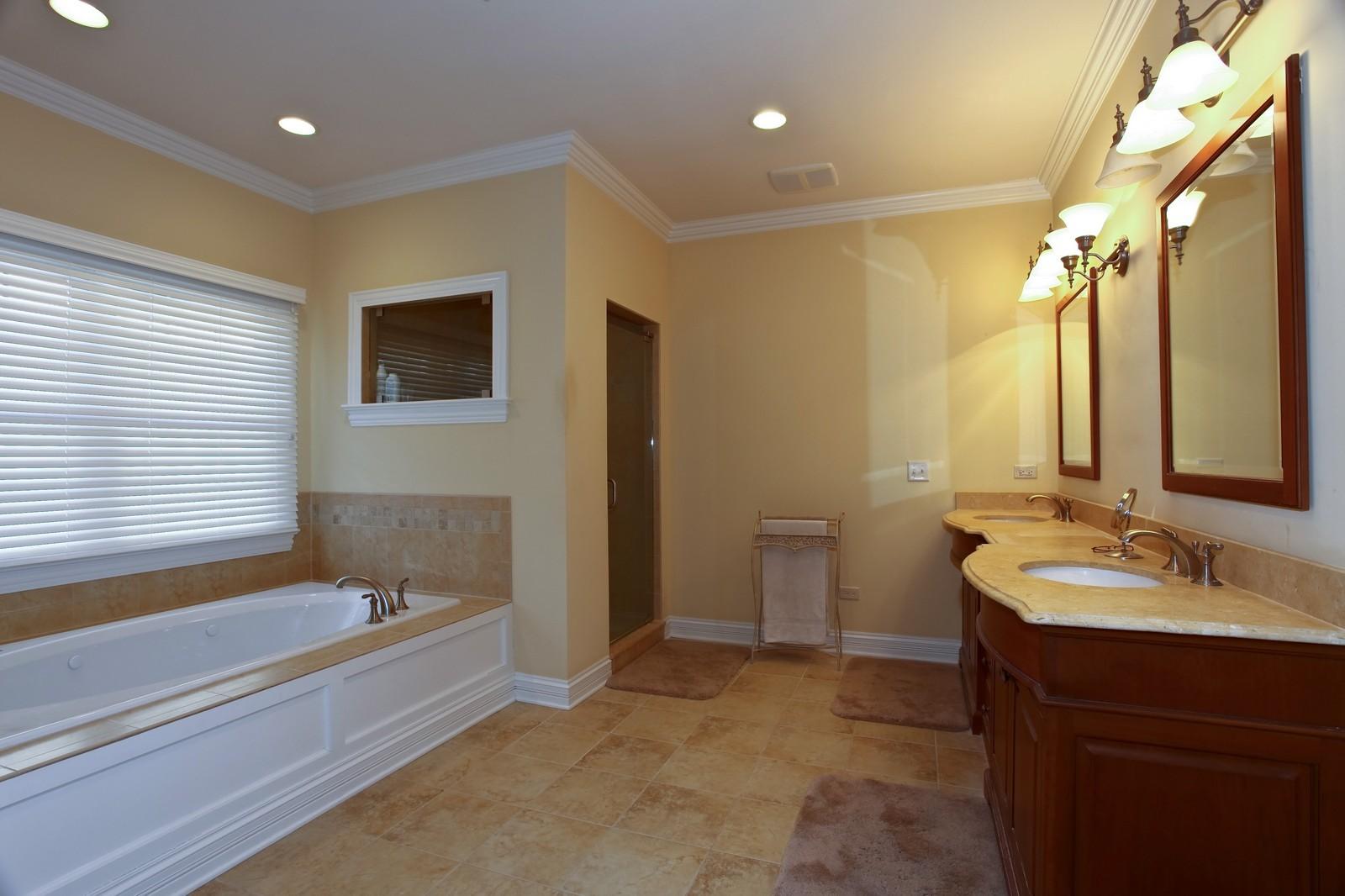 Real Estate Photography - 663 N Webster Street, Naperville, IL, 60563 - Master Bathroom