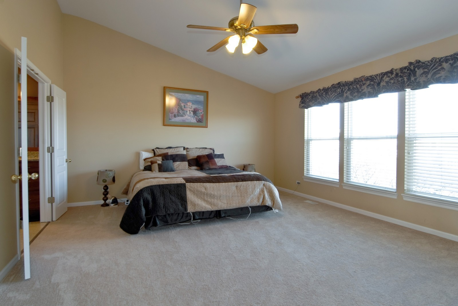Real Estate Photography - 12959 Stockton Ave, Plainfield, IL, 60585 - Master Bedroom