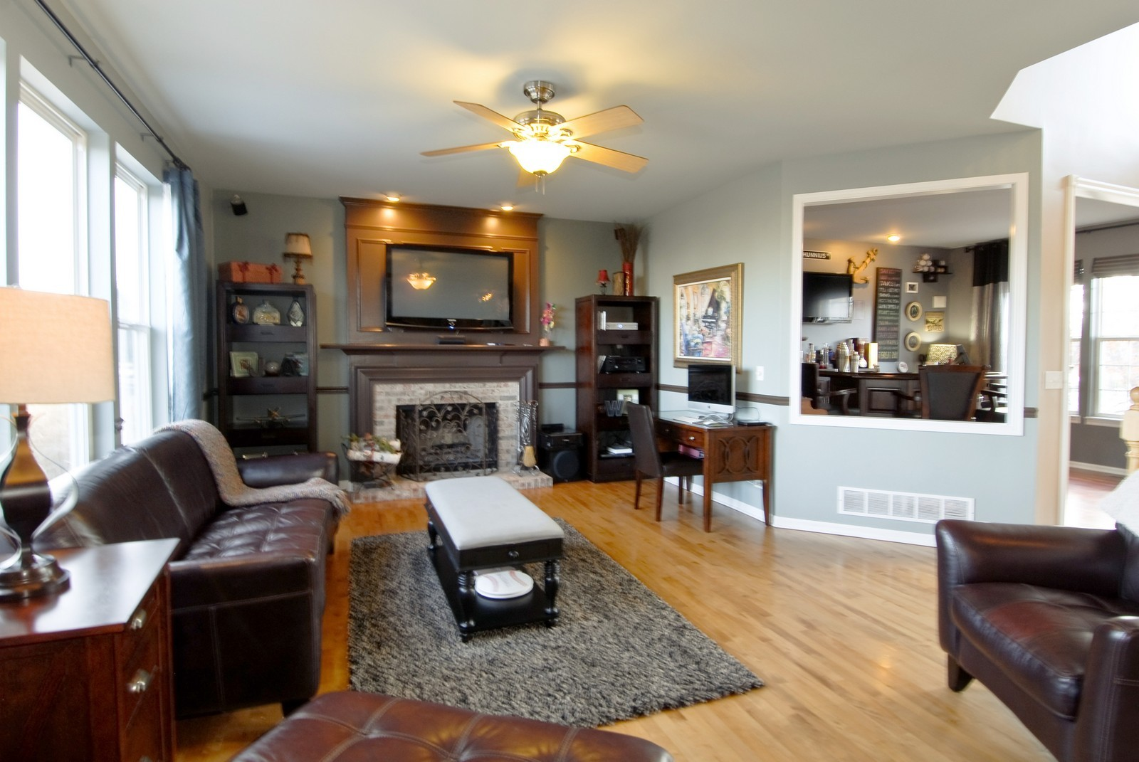 Real Estate Photography - 12959 Stockton Ave, Plainfield, IL, 60585 - Family Room