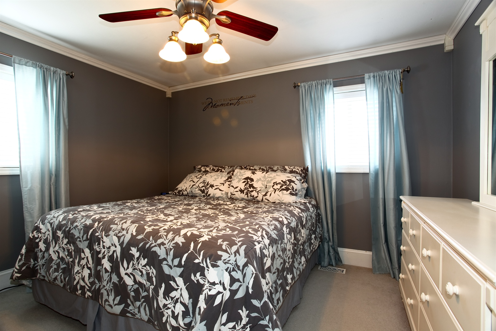 Real Estate Photography - 7639 Willow Ave, Woodridge, IL, 60517 - Master Bedroom