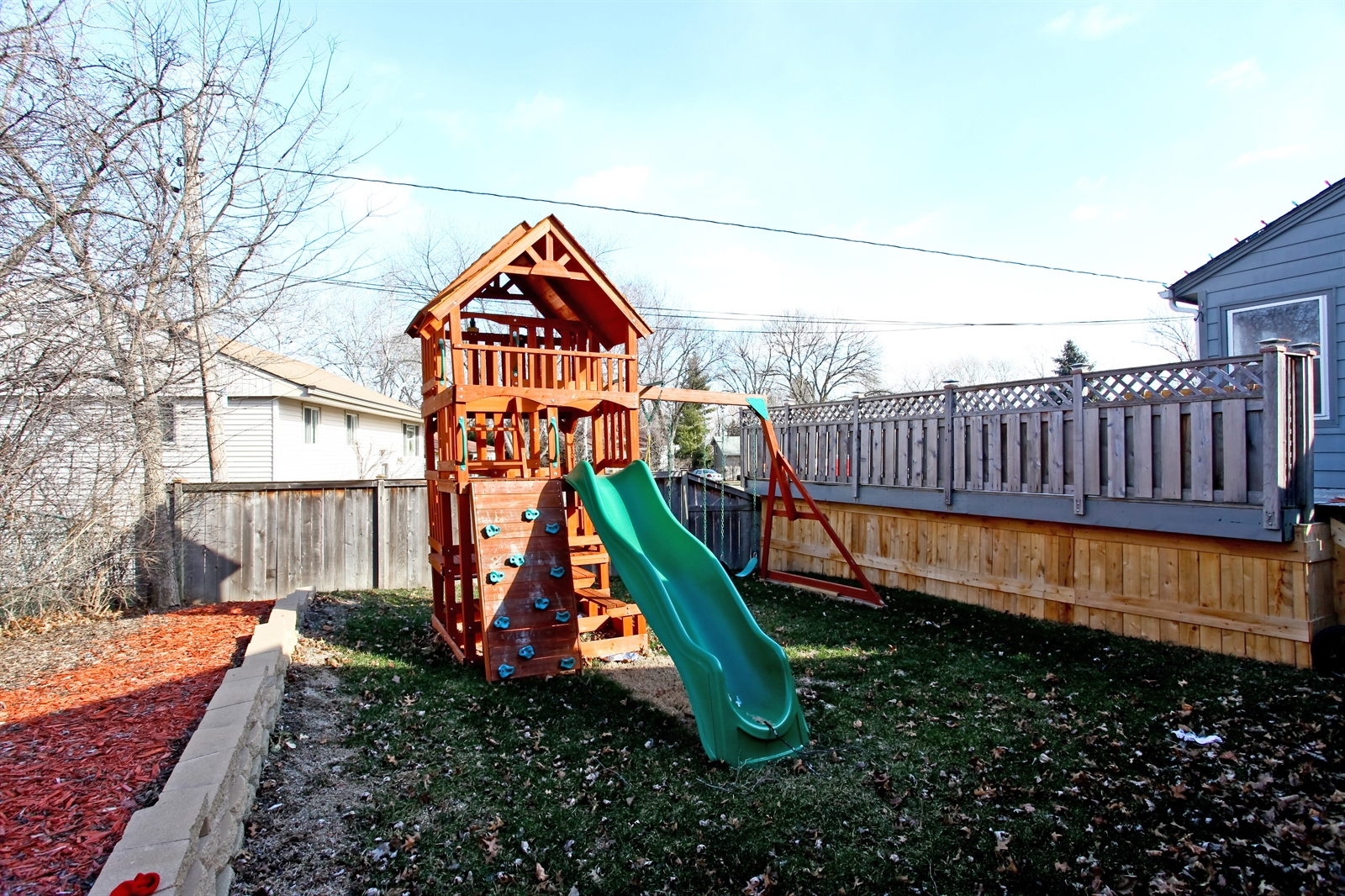 Real Estate Photography - 7639 Willow Ave, Woodridge, IL, 60517 - Back Yard