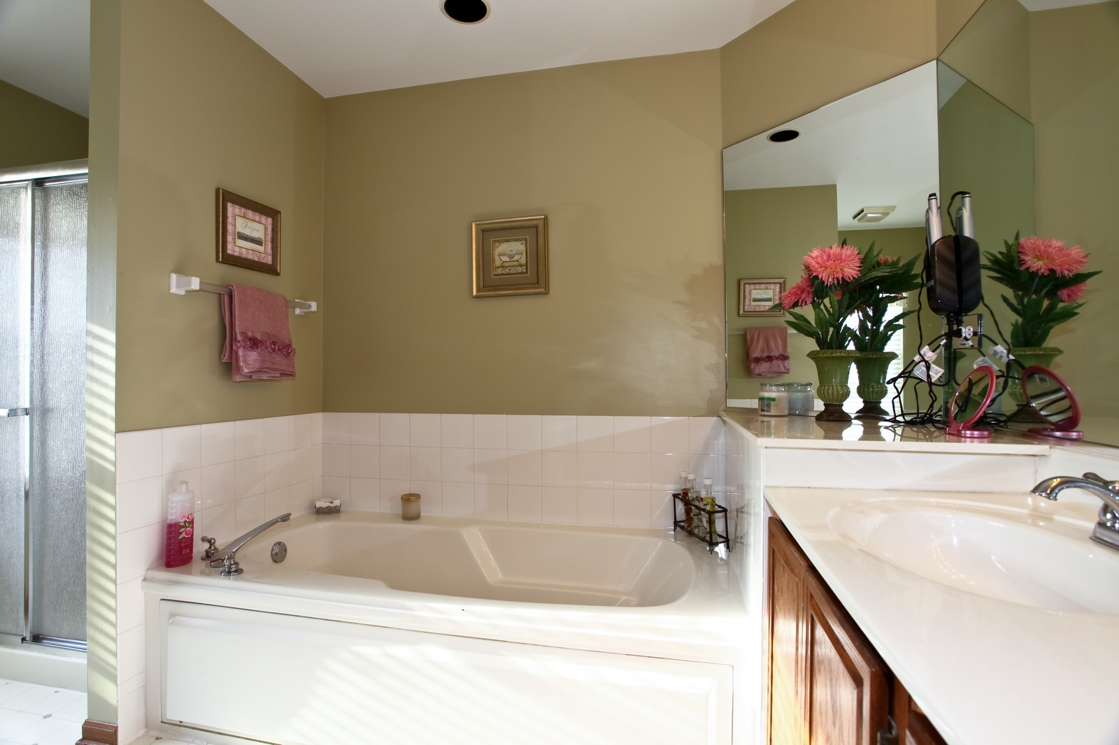 Real Estate Photography - 1383 Newcastle Lane, Bartlett, IL, 60103 - Master Bathroom