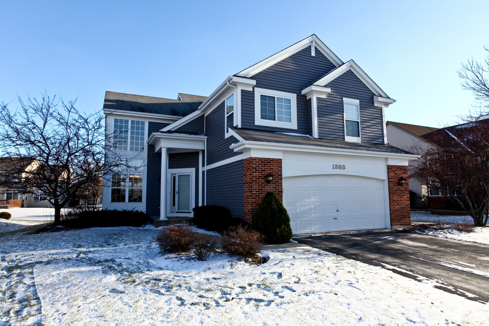 Real Estate Photography - 1383 Newcastle Lane, Bartlett, IL, 60103 - Front View
