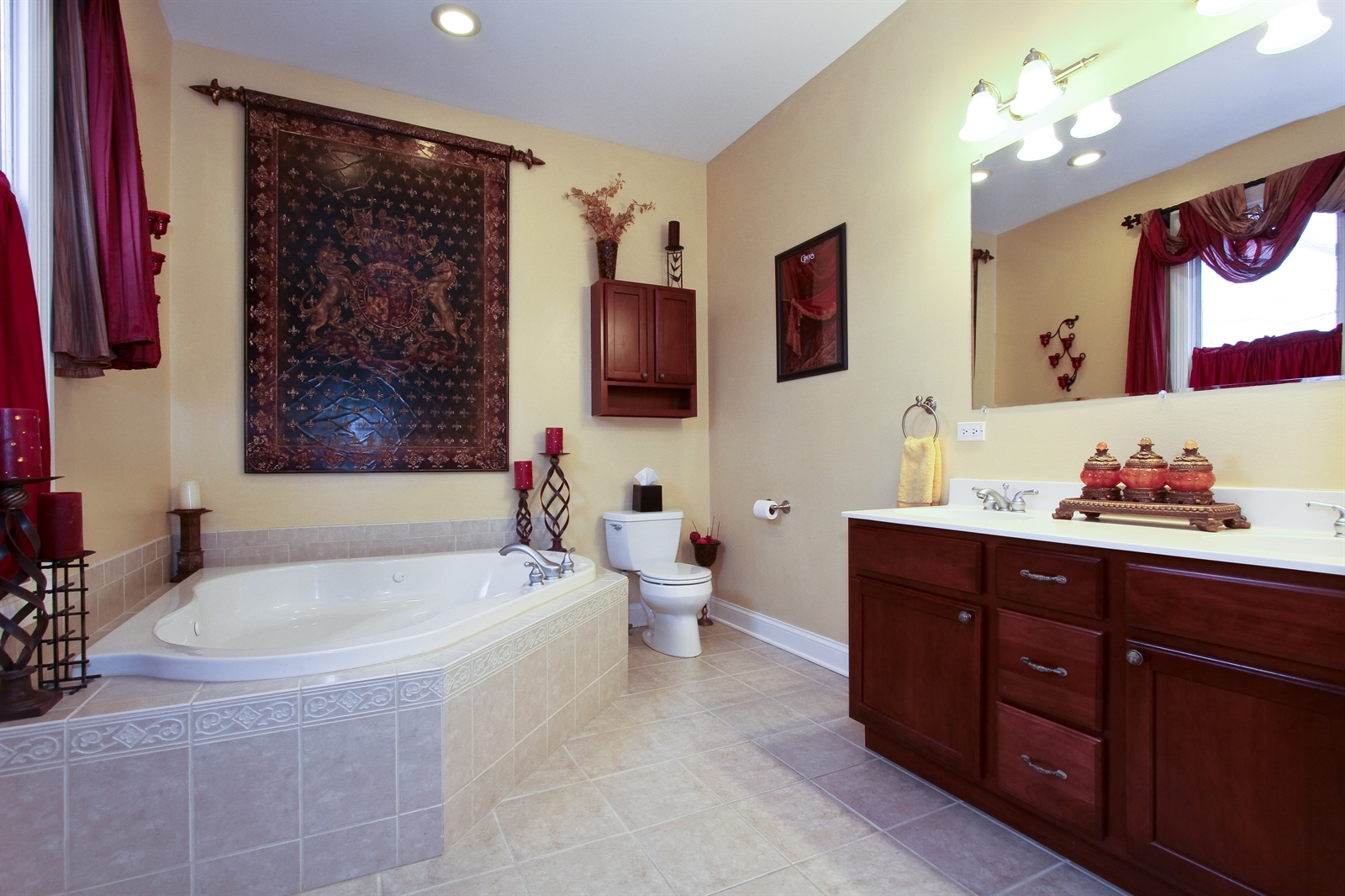 Real Estate Photography - 18213 Martin Ave, Homewood, IL, 60430 - Master Bathroom
