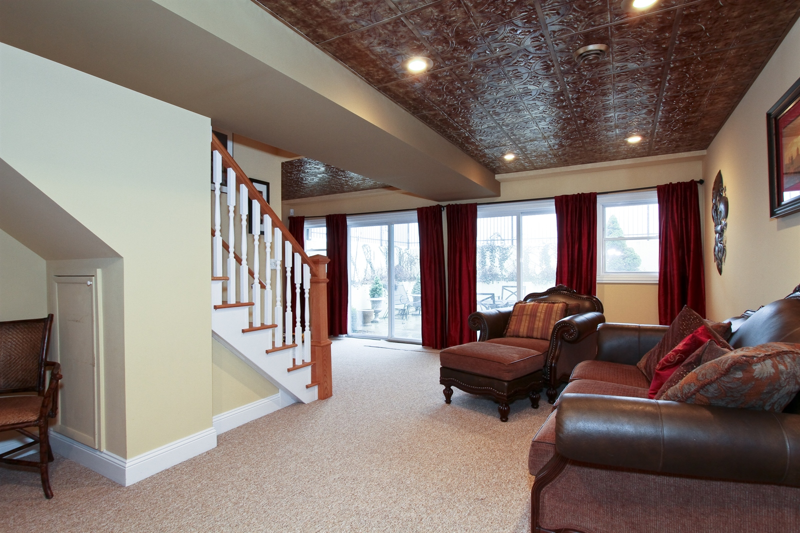 Real Estate Photography - 18213 Martin Ave, Homewood, IL, 60430 - Lower Level Recreation Room with Walk Out