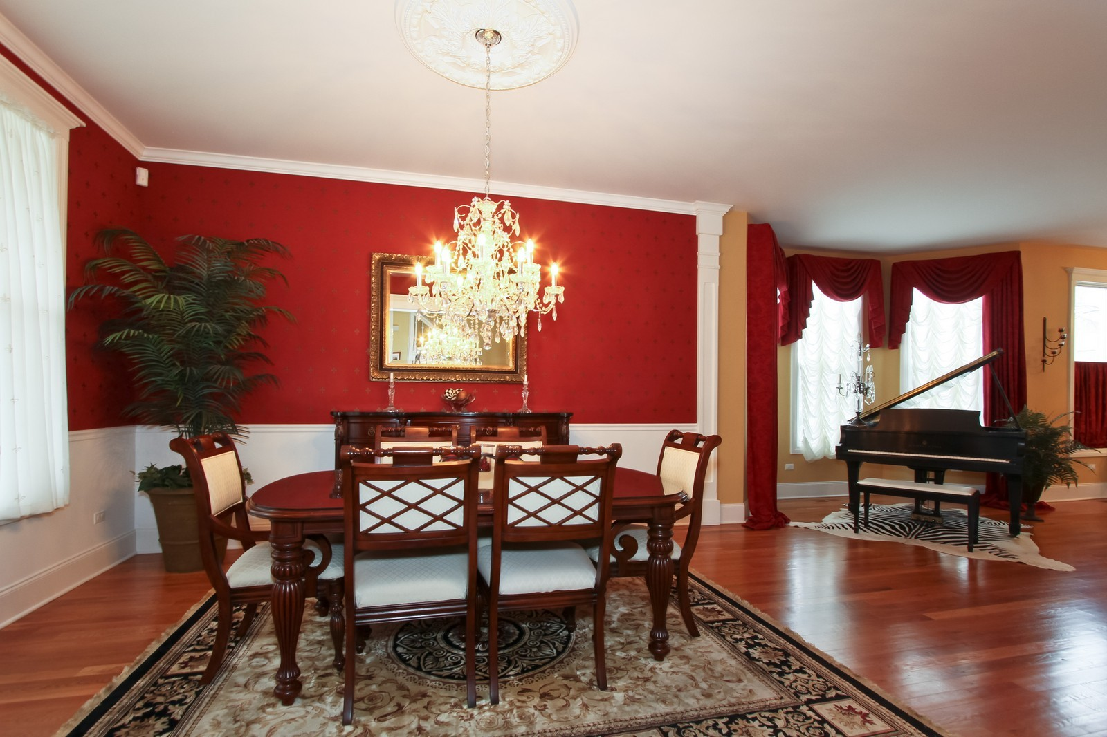 Real Estate Photography - 18213 Martin Ave, Homewood, IL, 60430 - Dining Room/Music Room
