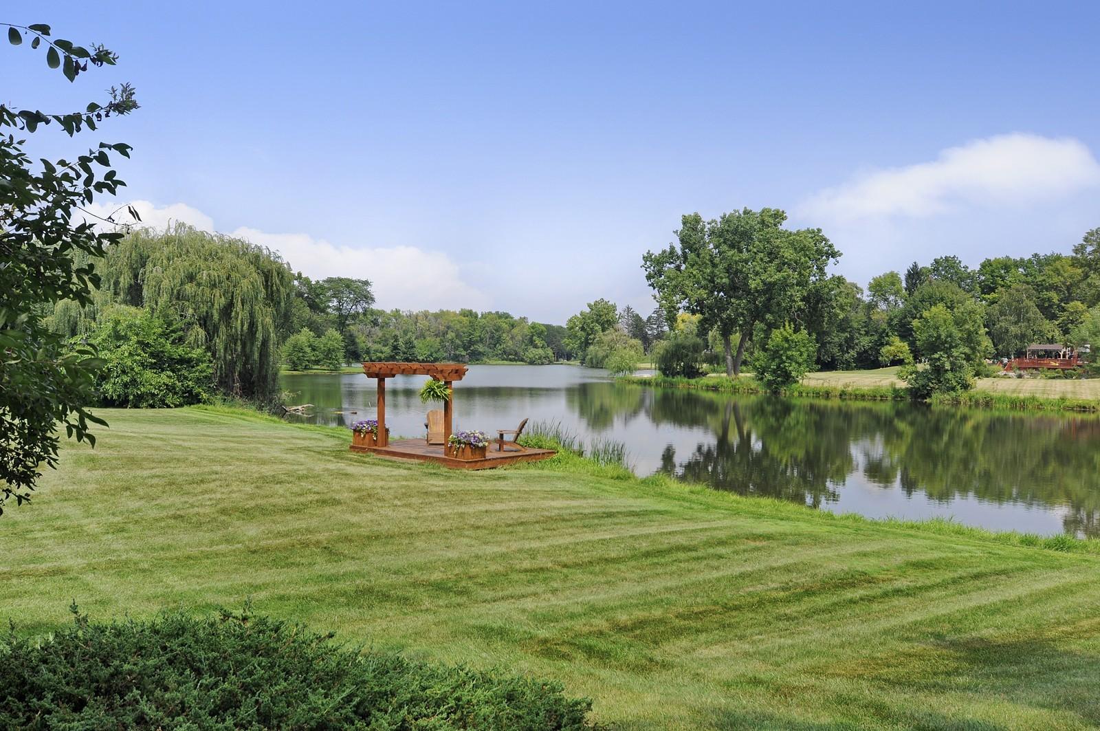 Real Estate Photography - 55 W Lakeview Ln, Barrington Hills, IL, 60010 - Lake View