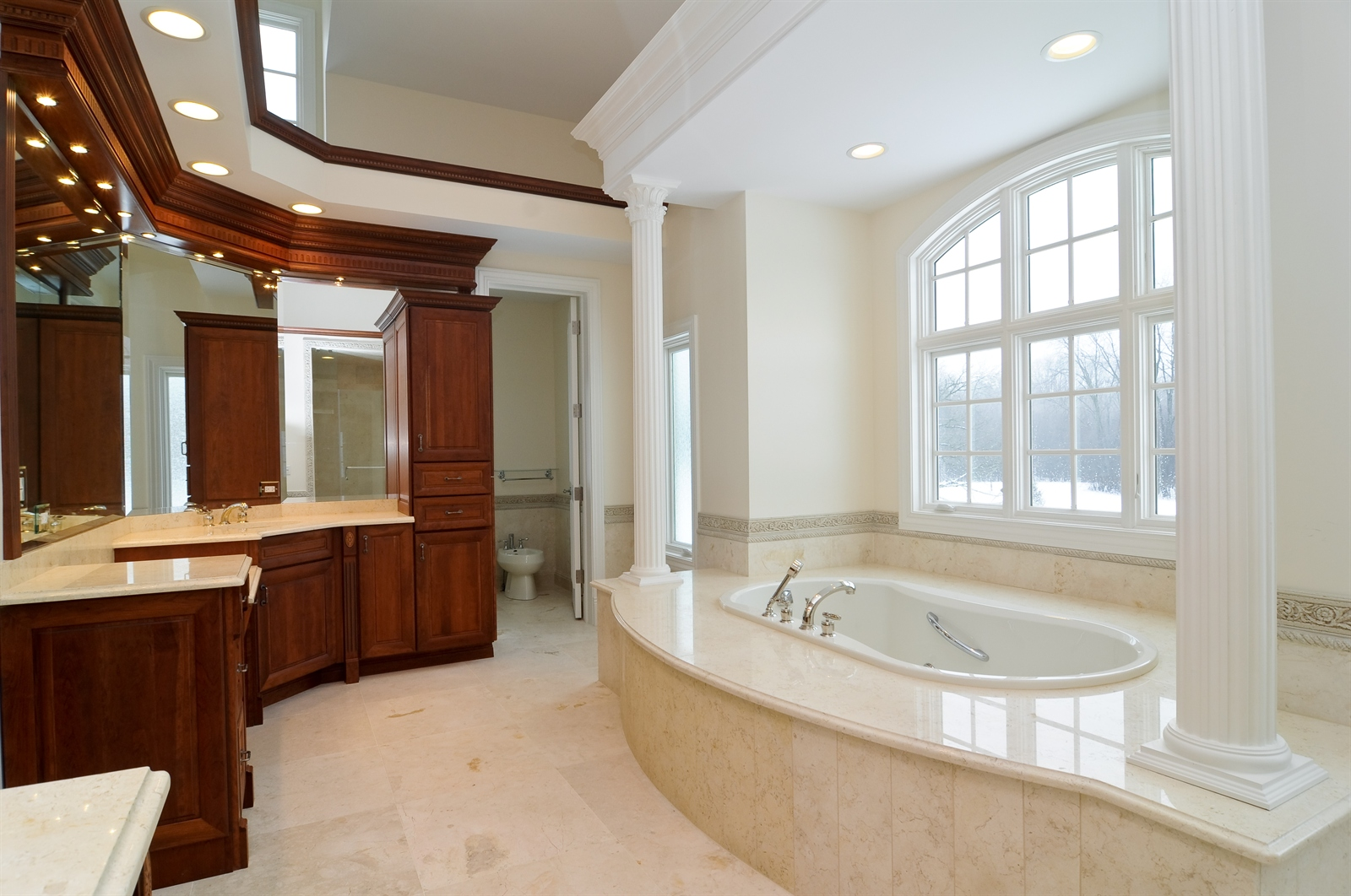 Real Estate Photography - 411 Caesar Dr, Barrington Hills, IL, 60010 - Master Bathroom