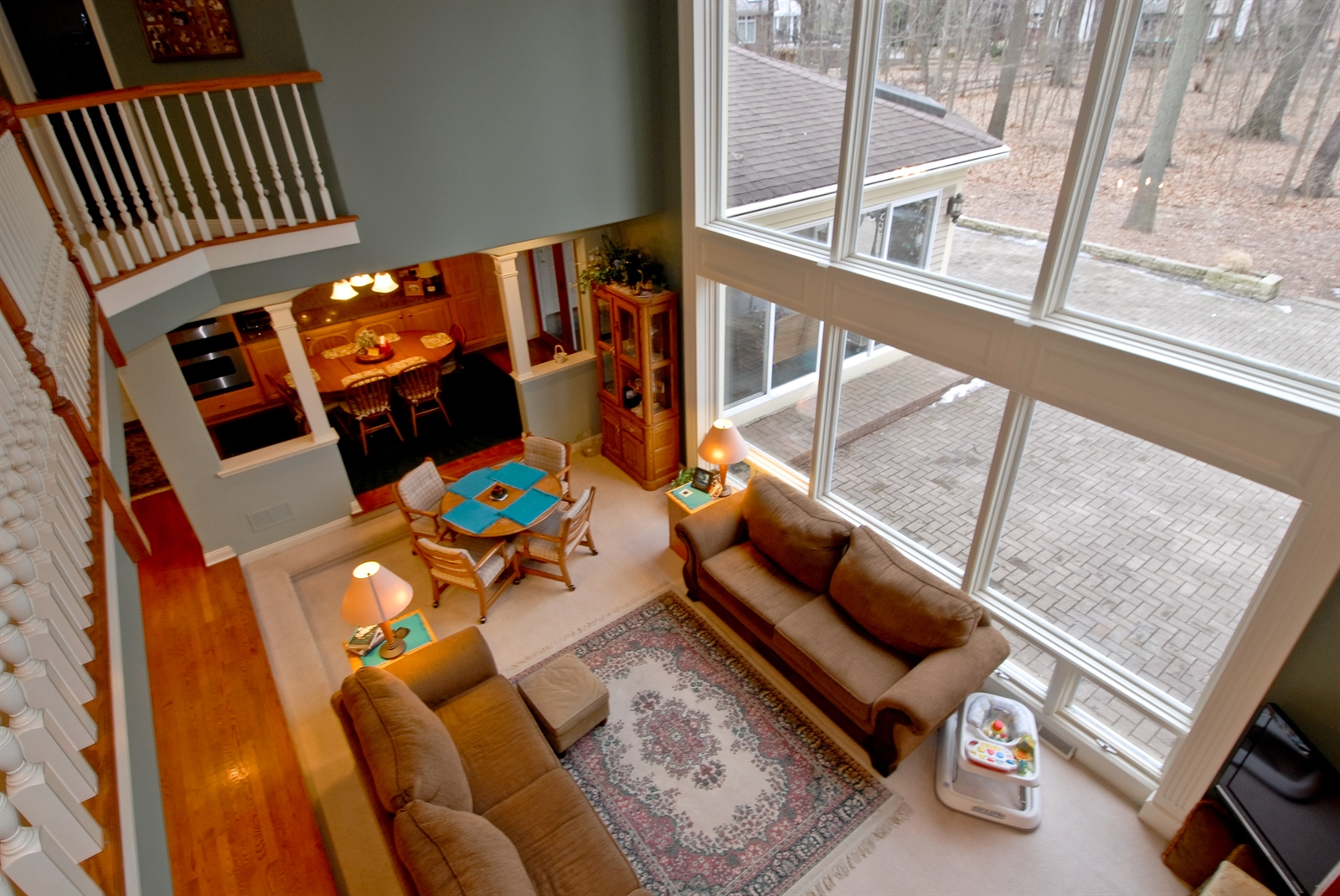 Real Estate Photography - 620 E Gartner Rd, Naperville, IL, 60540 - Two Story Great Room