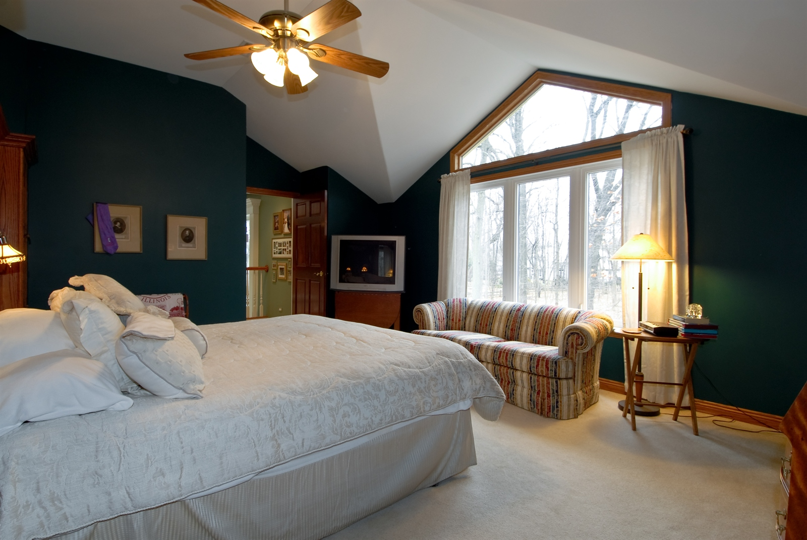 Real Estate Photography - 620 E Gartner Rd, Naperville, IL, 60540 - Master Bedroom